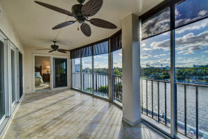 Private Patio, Intracoastal Views, facing South & West, with Shades