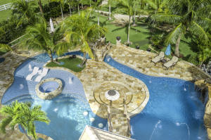 Aerial Resort Pool View