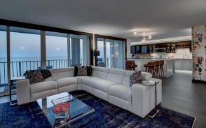 Sexy Beach Condo with all around ocean views and city views.