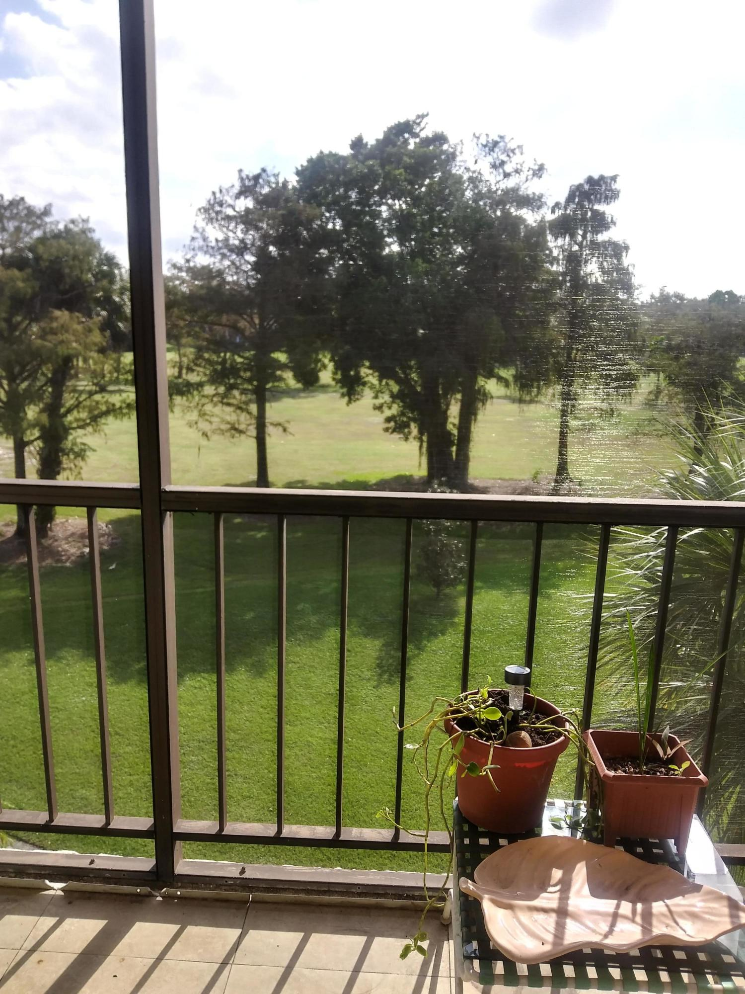 Golf course View from patio