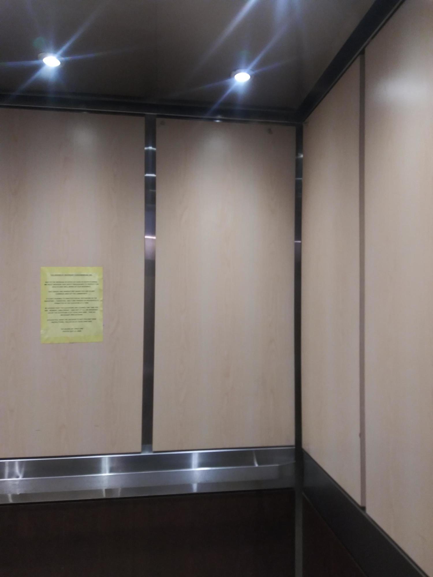 Inside the wide Elevator