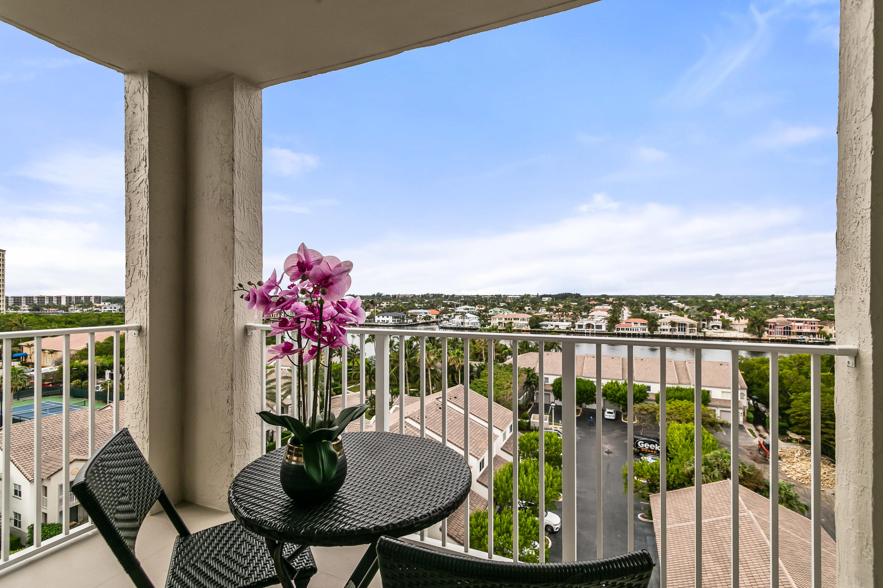 Covered Balcony with Intracoastal Views