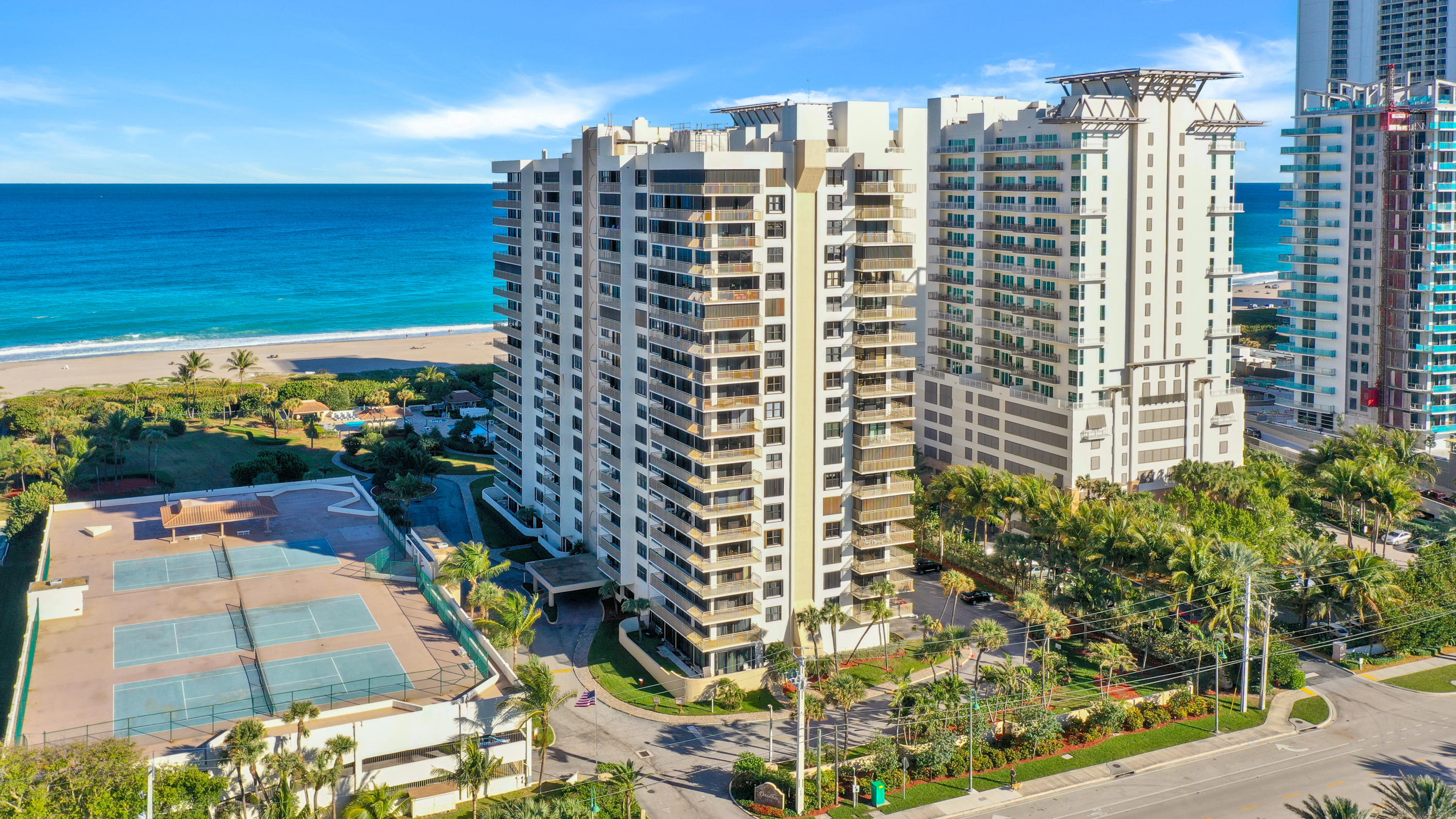 Welcome to Ocean Tree where you will truly live the Florida life and enjoy the Ocean views all around! If you want beach access, you got it! Enjoy having 2 beach access gates that are secured, 2 community pools, showers to rinse off the sand, 3 grills to enjoying family barbeques, 2 shuffle boards, fitness center, 24 hour manager, 3 tennis courts, 2 storage spaces, bike rack, banquet room, hot tub and more! Not to mention that you get beach service where you can feel the luxury of being served while relaxing. AC is around 2009, fast internet and cable is included, newer water heather, electrical box replaced 6 years ago, hurricane windows installed in 2008, brand new laminate flooring, freshly painted. Great for anyone wanting to rent it out and Priced to sell!
