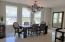 Elegant Dining area - open to Kitchen and Living area