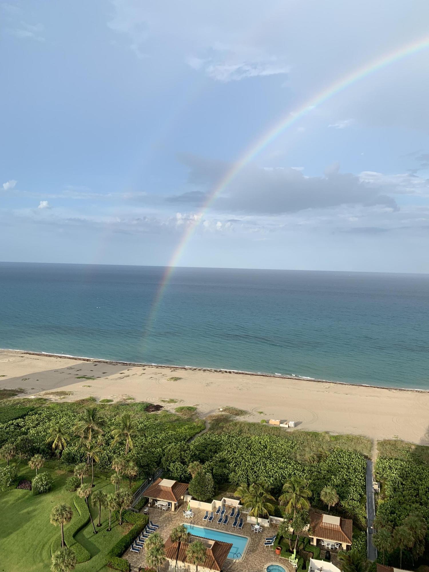 Rainbow over Oceantre Beach