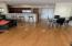 Large living room/dining area