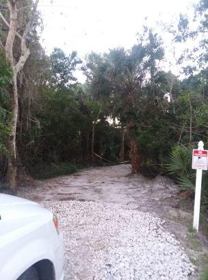 entrance to 5 acres