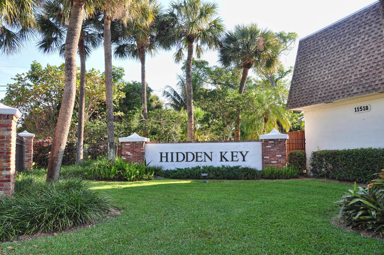 Hidden key entrance