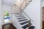 Stairway chrome bannister