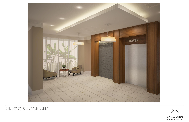 elevator lobby rendering