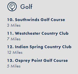 bridges golf course list