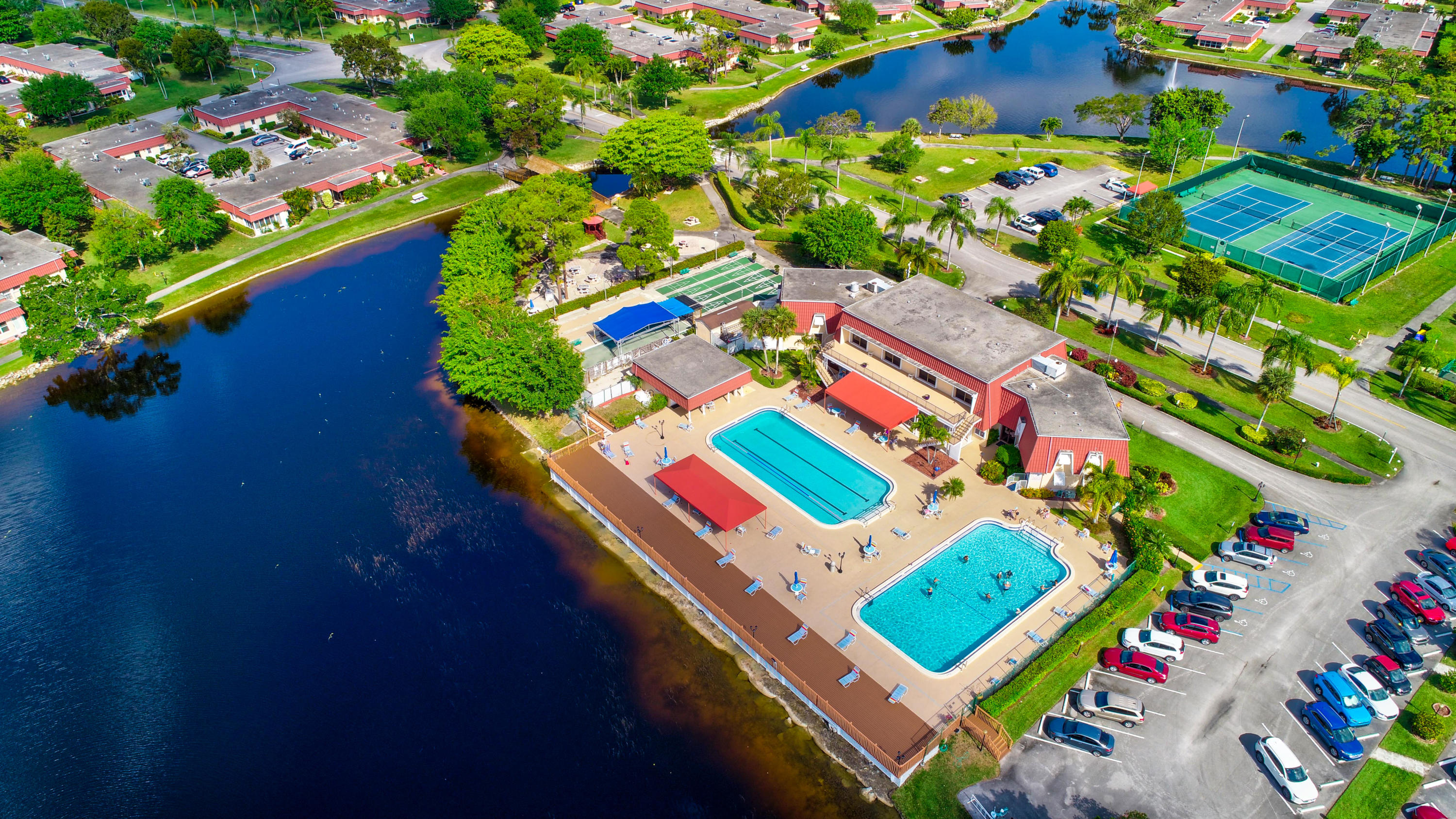 Aerial of Pool, Clubhouse