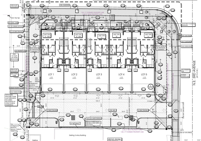 5 Unit Site Plan