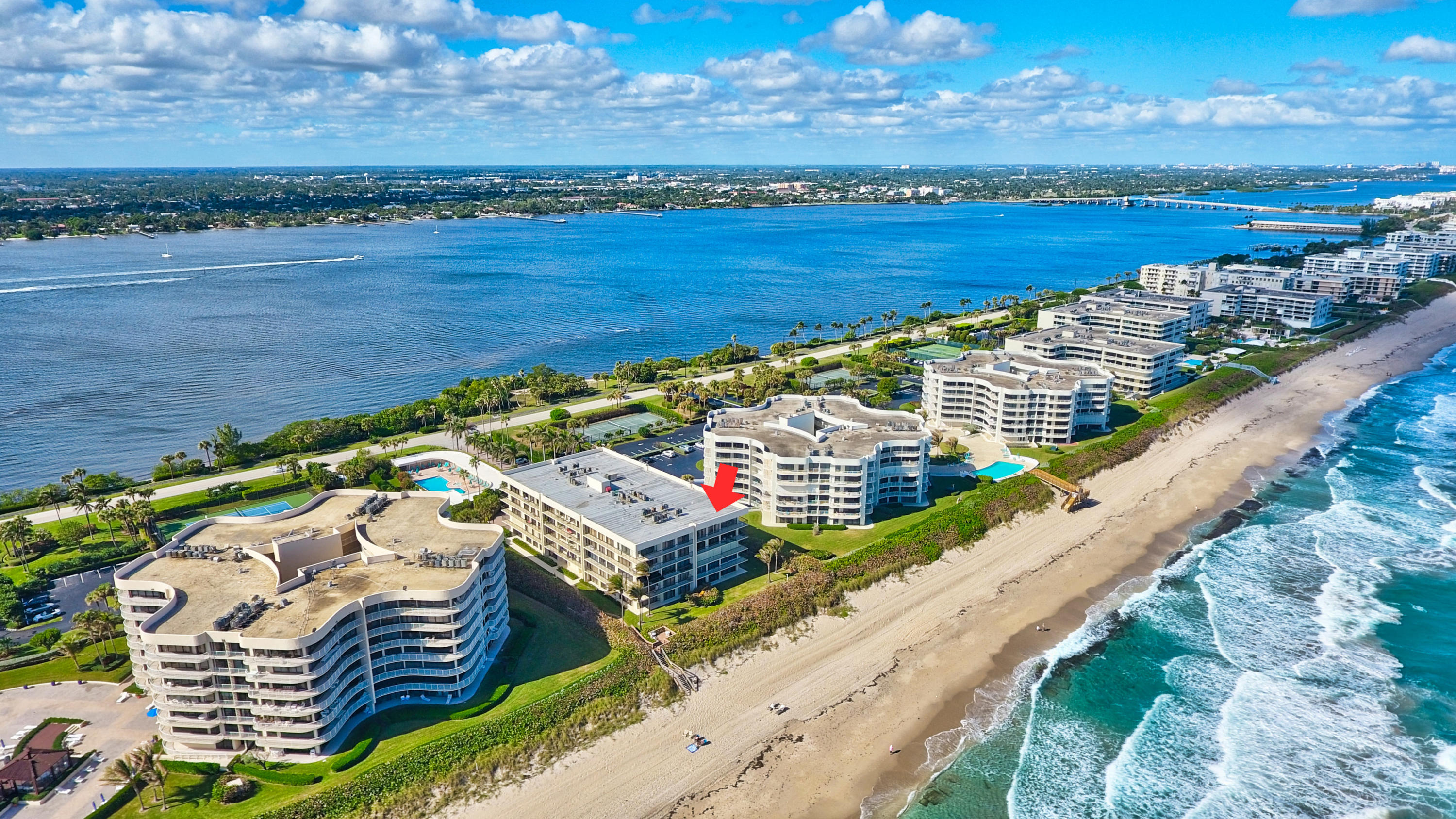 Schedule your tour of this elegant oceanfront residence with 3 bedroom suites, 3 full baths, in boutique style building a short distance to prestigious Four Seasons resort and the Eau Spa, close to the airport, shopping, short distance to Palm Beach center. Enjoy breathtaking direct ocean views from every room, views of the intracoastal, and alluring sunsets.  With large wraparound terrace it is deal for entertaining. This residence boasts doorman/concierge service, security, extra storage, assigned garage parking, PRIVATE POOL-CABANA, state of the art gym, beach access, floor to ceiling windows and more.  This resort style living awaits you.