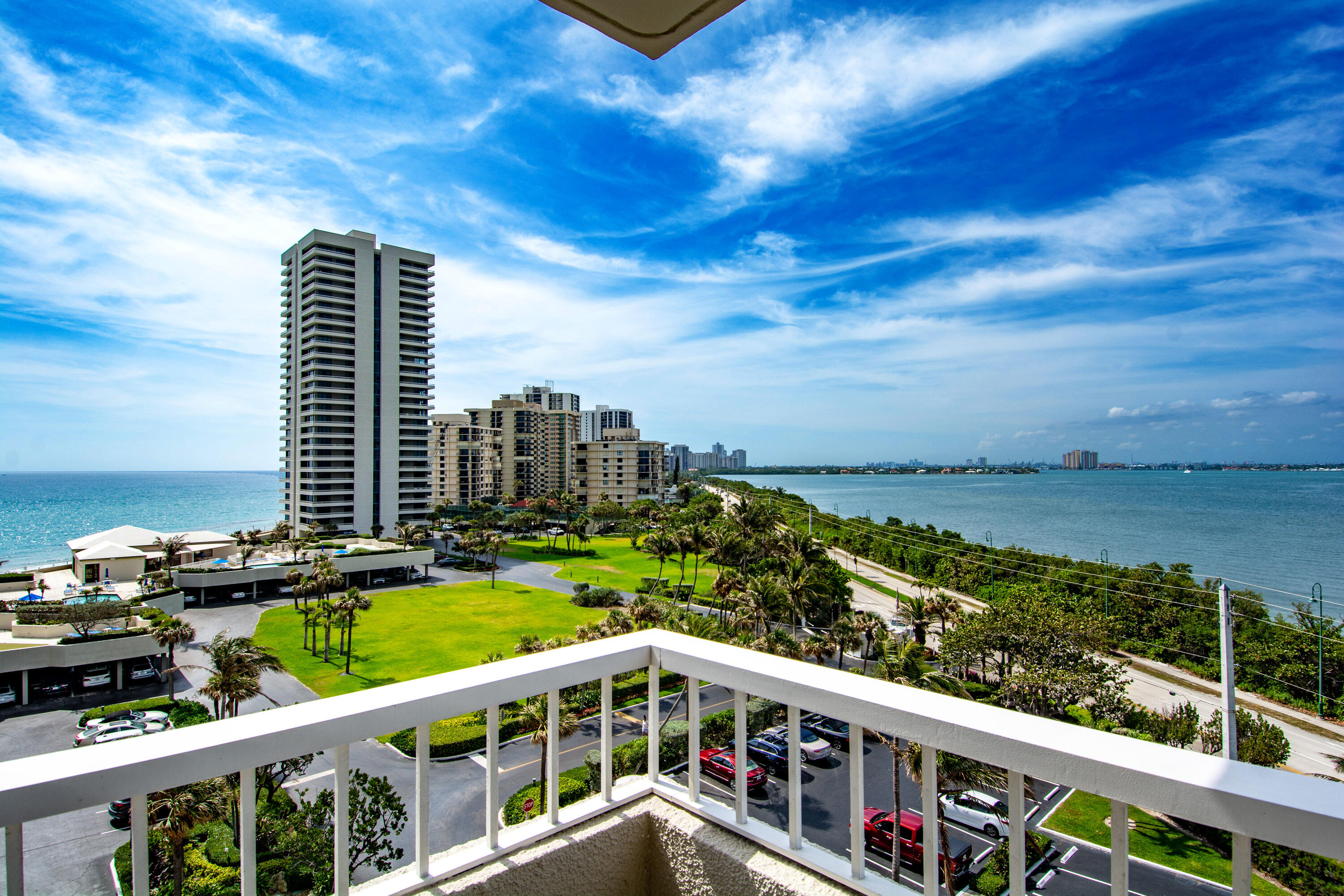 Beautiful Southeast Ocean & Intracoastal views in this bright updated & open condoUpdates include lovely large neutral  tile flooring open kitchen with  bar height counter & upgraded cabinetry perfect place to sit enjoy the stunning view The condo has new impact glass windows & sliding doors. It is being offered furnished with a few exclusions & with covered parking space #85 This building is pet friendly for 1 dog under 10lbs & has a gym on the 1st level The location is prime on the north side of Singer Island directly next to the MacArthur Beach State Park with 438 acres of natural Florida Beach and nature preserve The building amenities include private seawall protected beach frontage, 2 heated pools, 4 tennis courts and recreation deck with an owners lounge featuring an ocean view