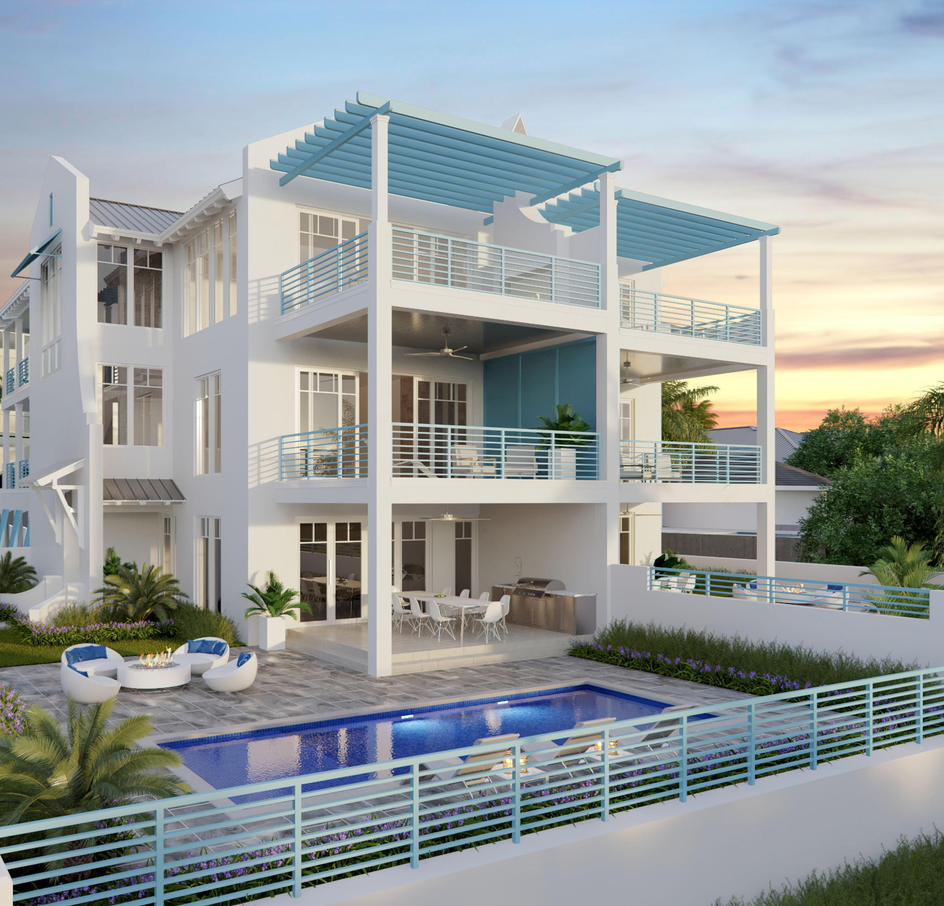 This might be the most interesting and compelling project ever done in Juno Beach. Literally the highest elevation you can find in South Florida. These 2 gorgeous town homes sit on 33 ft above seas level at pool level. Top Floor will be at over 60 ft elevation with phenomenal  unobstructed blue ocean views of Juno Beach. Beach access steps away make this better than any  condo in the area. Being a Town Home, with private pool  and the privacy a Town House has over a condo makes this a very unique and special place to call home. With almost 4,000 sq ft of ac space all with panoramic ocean views, 4 bedrooms, 4 1/2 baths, high end finishes this property  will go fast. Delivery in Early 2022 coming out of the ground any day. Call for a private meeting and viewing. Only 2 units to be built.