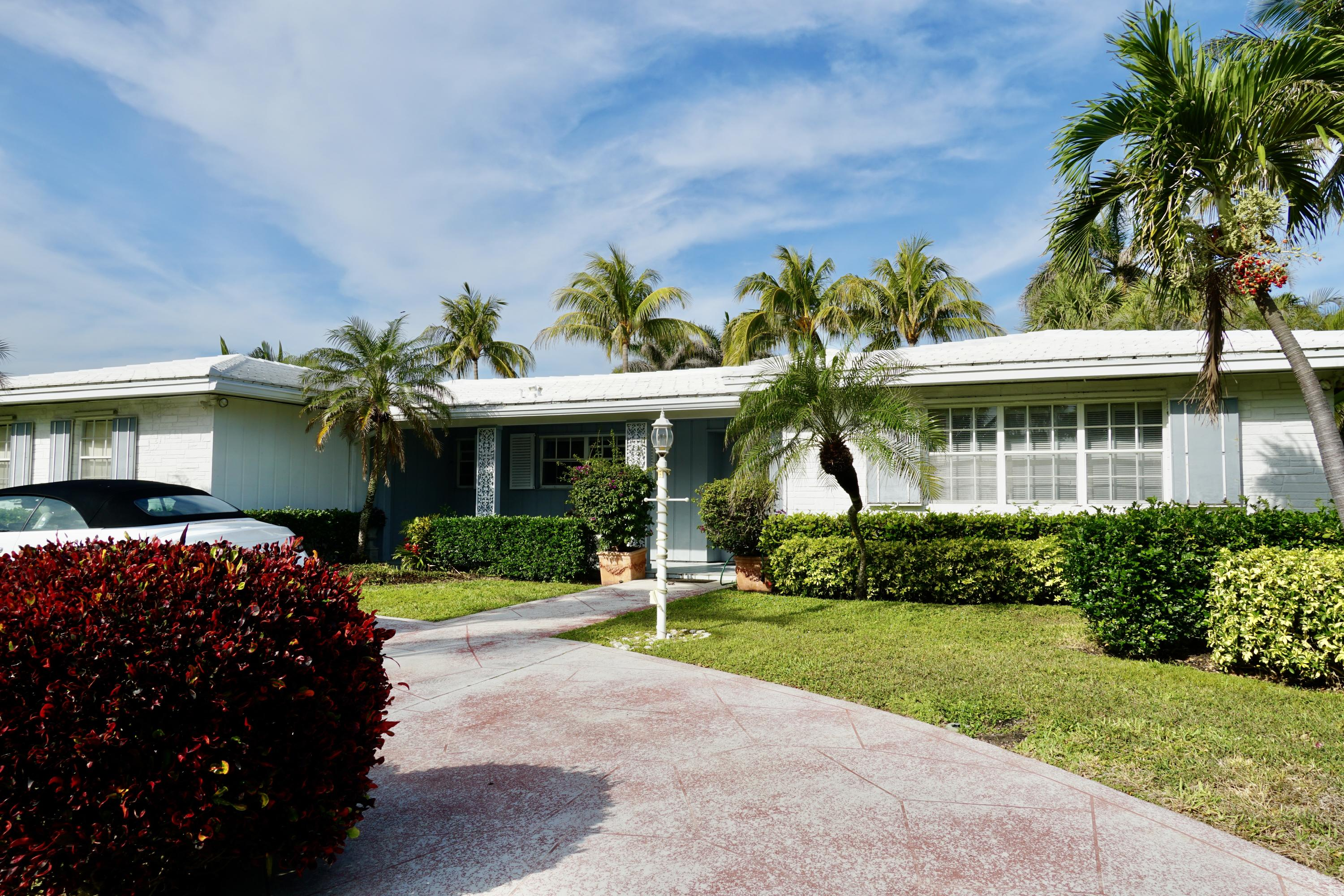 Great opportunity to renovate or build new with potential for second story water views! Close to the ocean and Palm Beach Tennis Center, as well as, to Palm Beach Par 3 golf course, 5 star hotels, Worth Avenue, restaurants and cultural centers.House is available individually or in combination with the adjacent vacant lot, also listed on MLS.