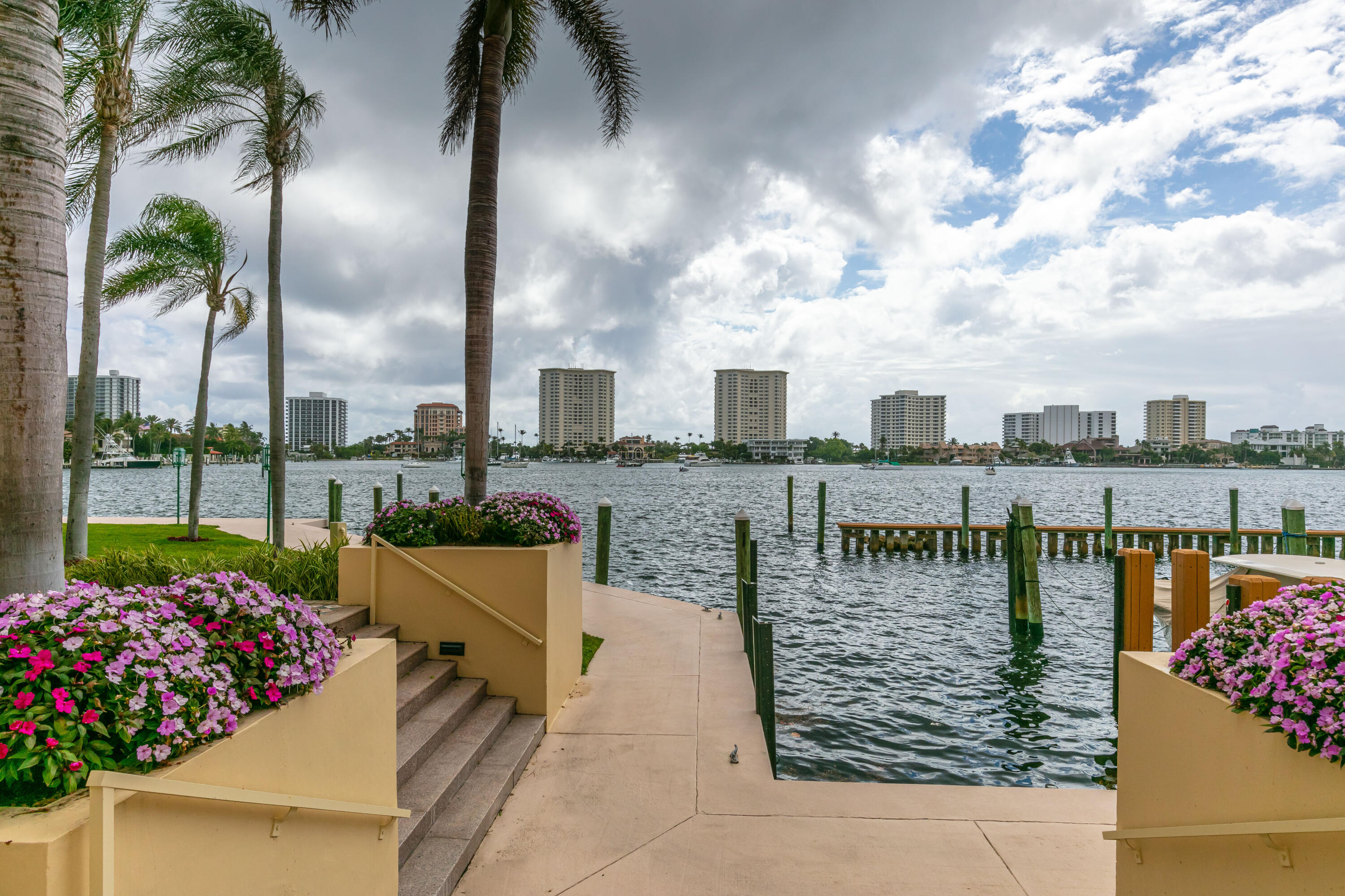 Private entrance to Intracoastal walkway