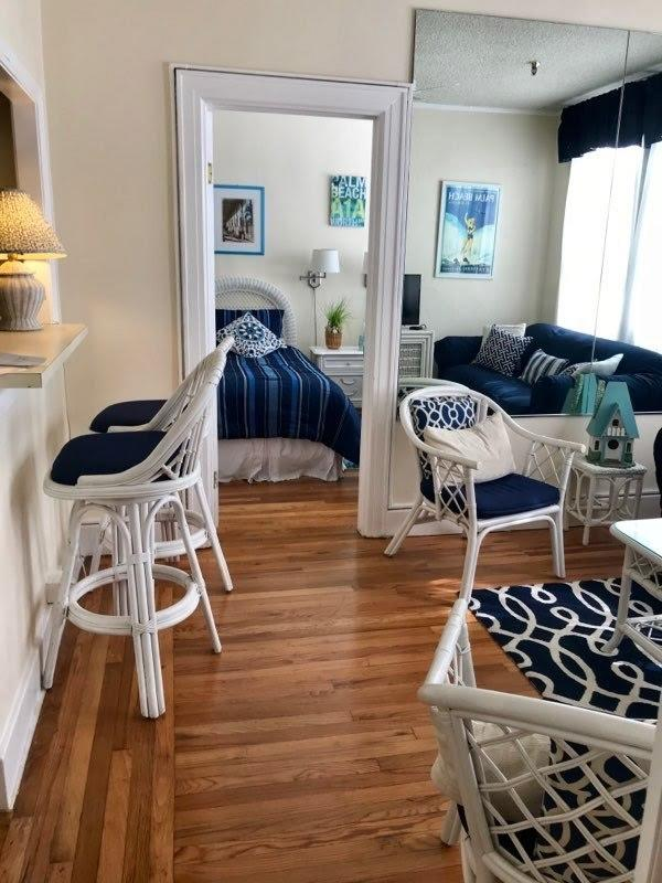 Charming condo unit featuring 2 bedrooms and 2 bathrooms. Live somewhere that makes you alive! Located in the Palm Beach Hotel where beach is just 1.5 blocks away. Restaurants across the street with many others within walking distance. Publix is also right across the street for extreme convenience. The HOA covers front desk, water, electric, basic Wi-Fi and cable, building insurance, trash removal, common areas including pool, gym & spa.