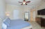 MASTER BEDROOM OFFERS DOUBLE CLOSETS