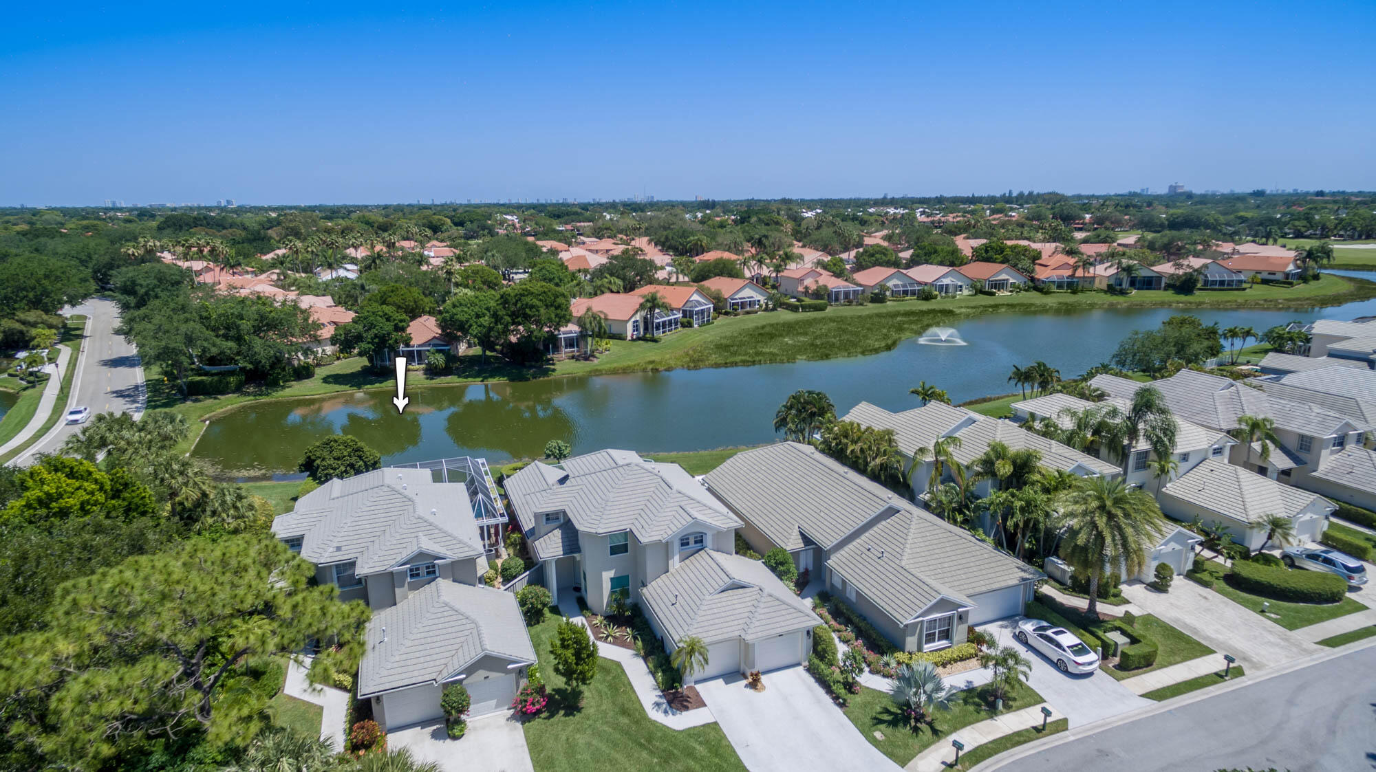 Fully furnished, turnkey, salt water pool home, behind the 24hr guard gated Eagleton community within PGA National. The Master bedroom with king bed is located on the first floor, overlooking the heated salt water pool. No membership.