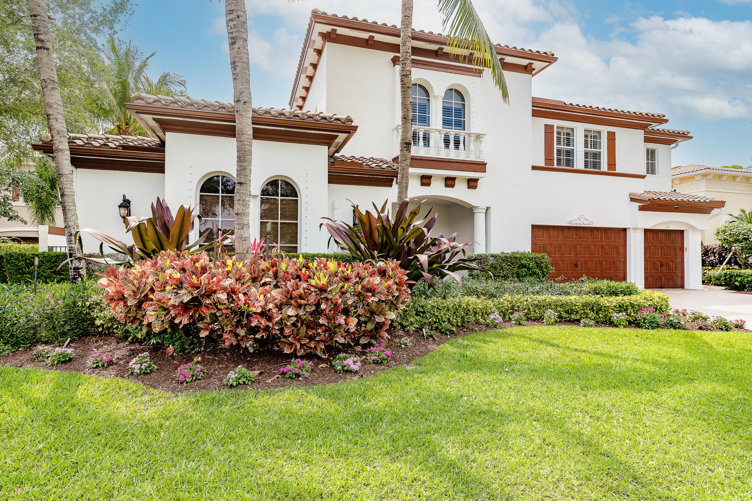 Magnificent 2-Story courtyard home w/Cabana and resort style pool in the secluded San Michele Private Estates gated community with 24- hour guard at gate, close to Florida beaches, Downtown the Gardens and shops and dining. This Gorgeous home has over $300K in recent upgrades and many additional features and shows like a model. It offers 5 Bdrms, 5 1/2 baths with 5585 sq ft of living space. Smart Home with State of the art lighting, security, video, audio and pool controlled by smart devices. 1 Year Smart home service plan included with purchase. Recently painted interior and exterior, custom designed exterior lighting and audio as well as newly upgraded landscaping throughout. PLEASE SEE SUPPLEMENT REMARKS FOR ADDITIONAL INFORMATION ! Complete Kitchen remodel with newer appliances and Cabana with bathroom remodel including theater like surround system. Plantation shutters throughout, new carpets, new wi-fi network for maximum connectivity are all standard features of this exquisite home.. Estate is located across the lake with a Southern facing resort pool/spa. Enter through the wrought iron gates to a tropical paradise overlooking cascading waterfalls, large courtyard with plenty of space for entertaining guests and family. Come secure your place in Paradise now!!