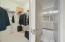 Large walk-in closet and en suite bathroom