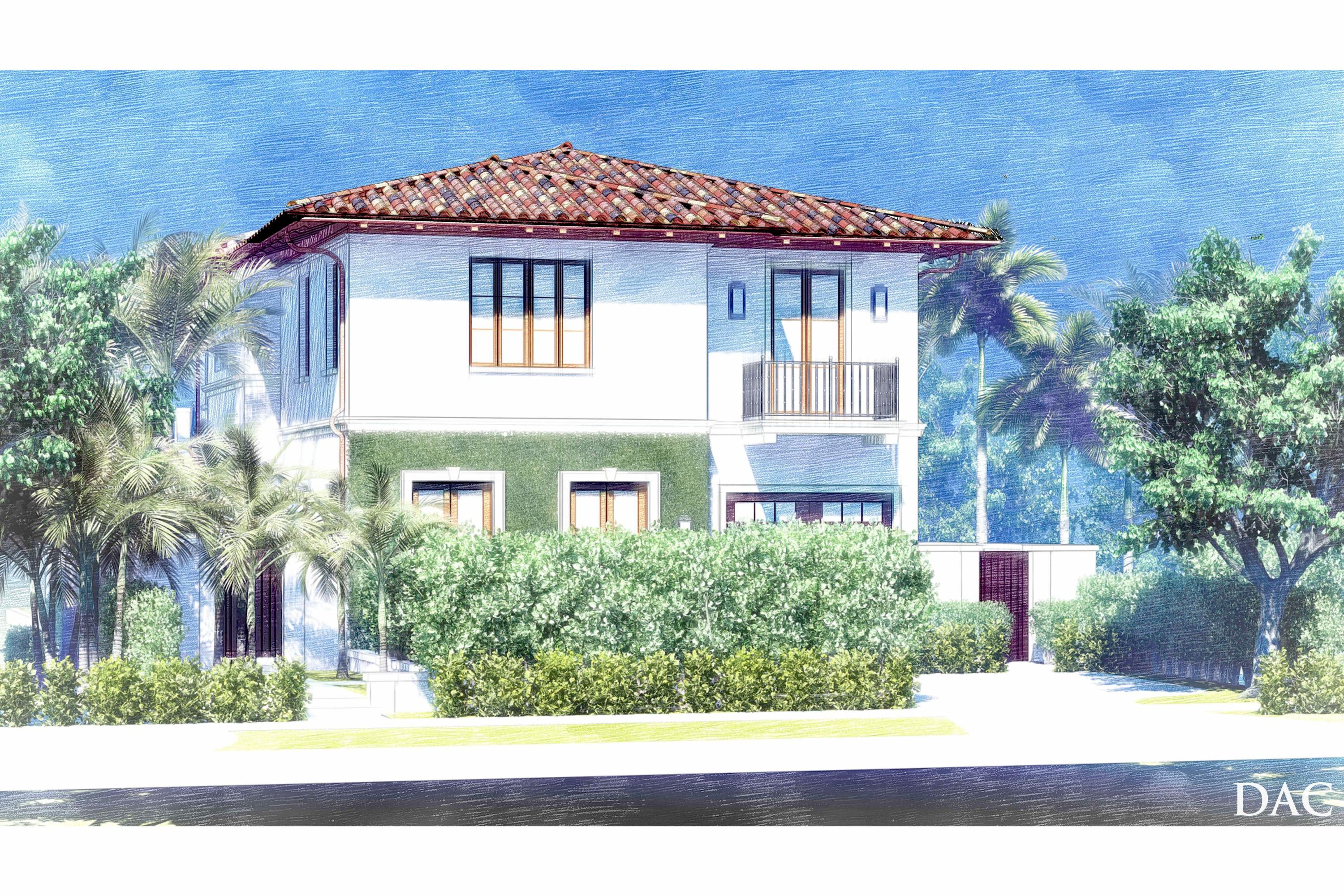 Stunning ''In Town'' New Construction, Modern Mediterranean Masterpiece on quiet and lovely Everglade Ave. Completion Summer 2022. Ideal location, a few blocks from Worth Ave., Beach, Lake Trail, Publix, Amici and The Royal. Home designed by renowned Palm Beach Architect, Pat Segraves, constructed by Dunworth Builders with landscape design by Parker Yannette.  Unique features of this amazing custom home include: 4 Bedrooms, 5 Baths, 1/2 bath, great room, family room, his and her vanities/water closets, Elevator, 2 Laundry Rooms, Chef's Kitchen with 11' Center Island, Pool, Spa, Sun Shelf, Covered Loggia with motorized bug screens, BBQ, Outdoor Shower and Smart Home Automation. 3D Model and Full Plan Set Available Upon Request.