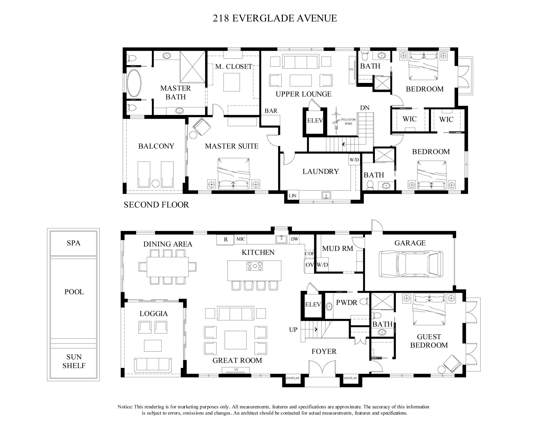 Furniture Plan B&W