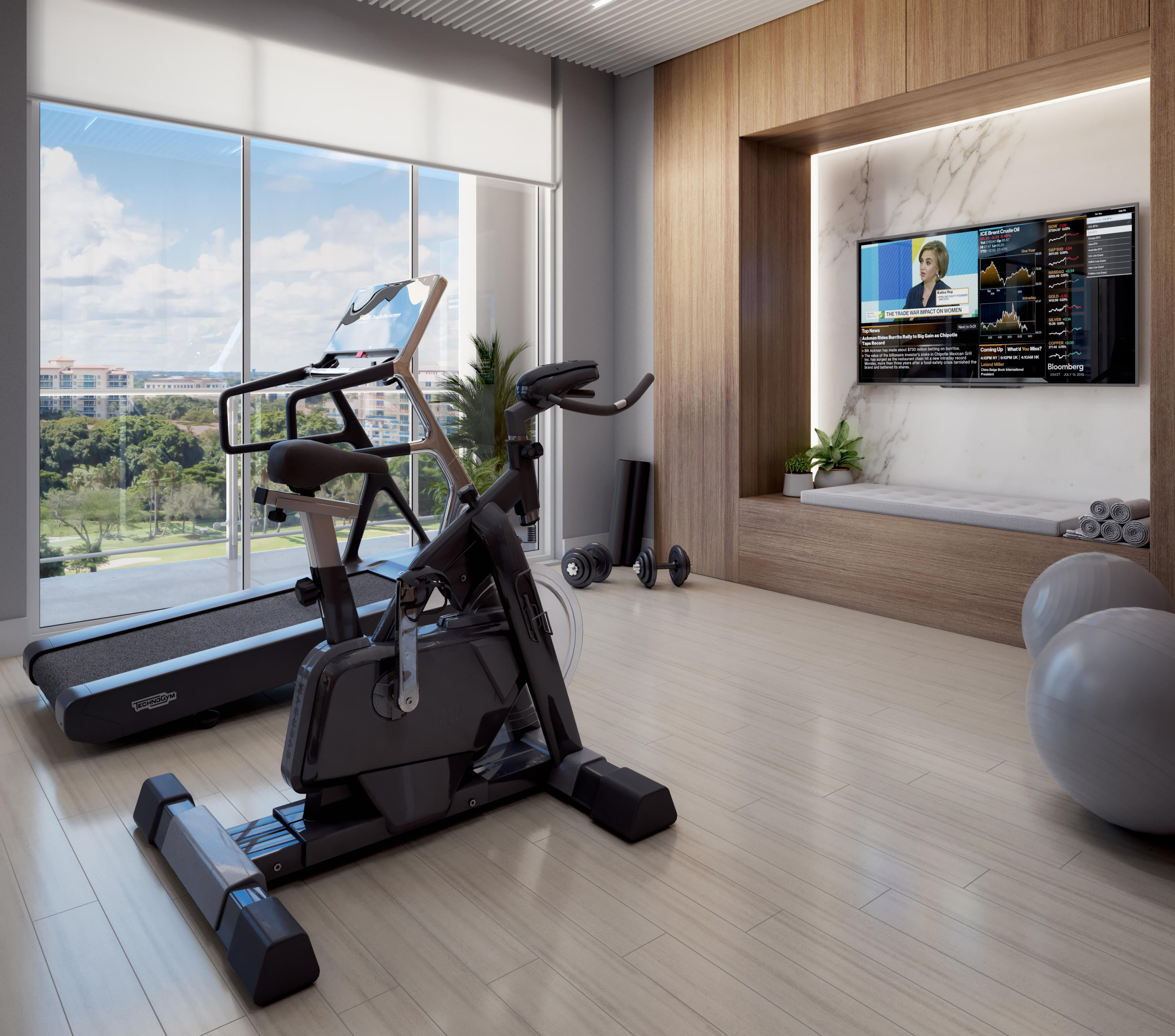 Private work out room