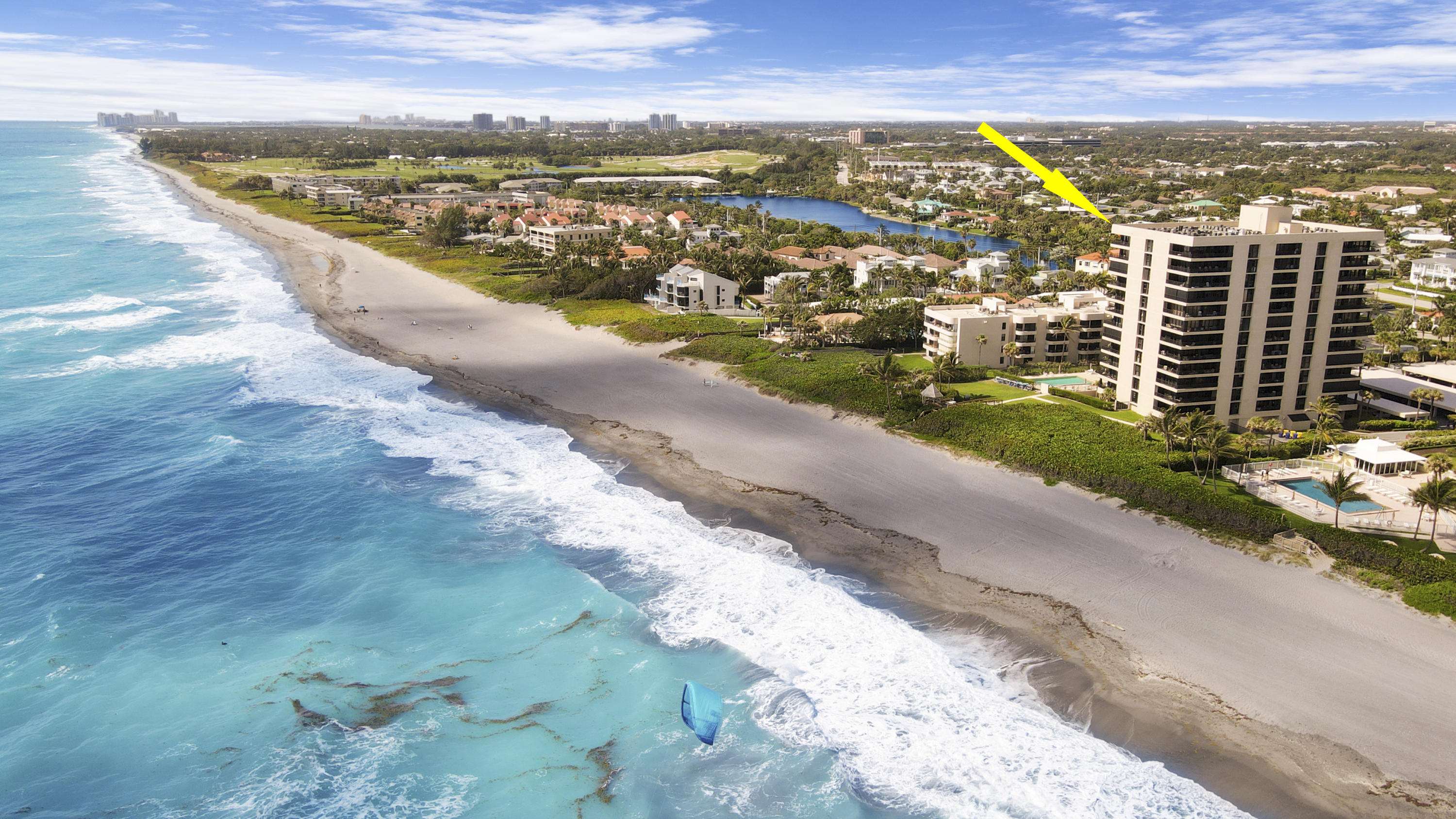 Rare find in Juno Beach! This 2/2 southeast corner condo offers unobstructed and some of the most breathtaking, panoramic views of Juno beach and beyond! Enjoy the scenic views from oversized private balcony or abundant living area. Complete with all hurricane doors and windows. Nice new tile floors though out. A/C and water heater 4 years old. Beautifully maintained and move in ready.  Juno Ocean Club is ideally located in the heart of Juno Beach and close to all major shopping, Highways and PBI. Being sold as is all you need is your bathing suit and toothbrush!