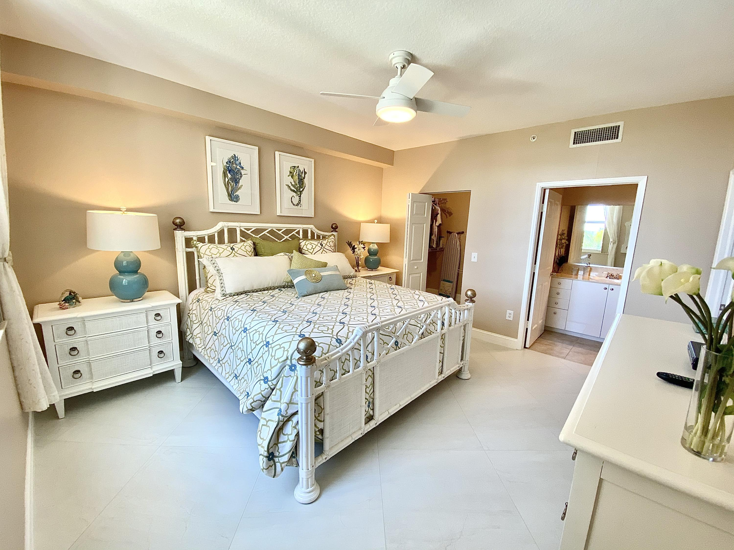 Master Bedroom with Pool & Water Views