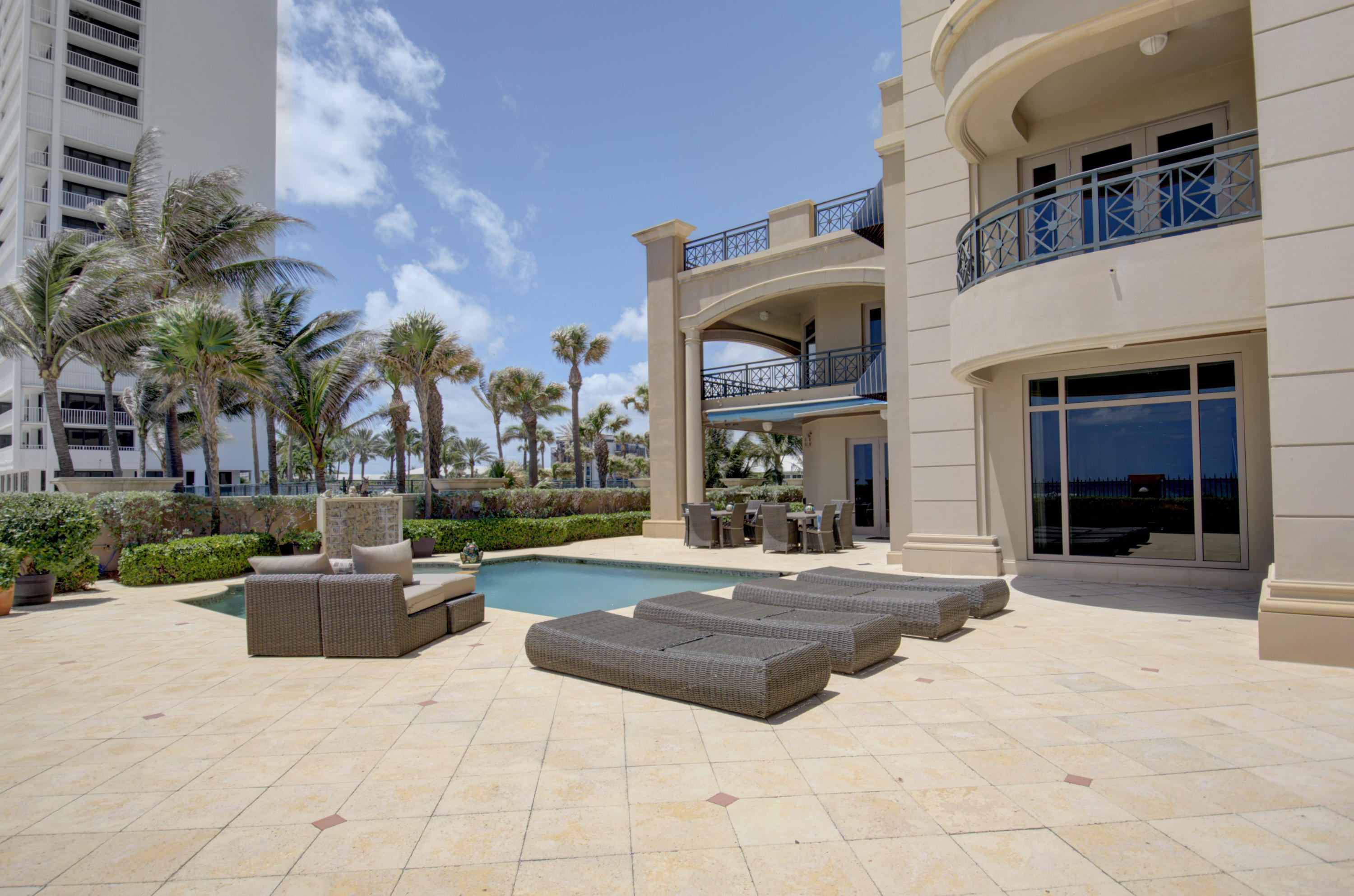 large private patio