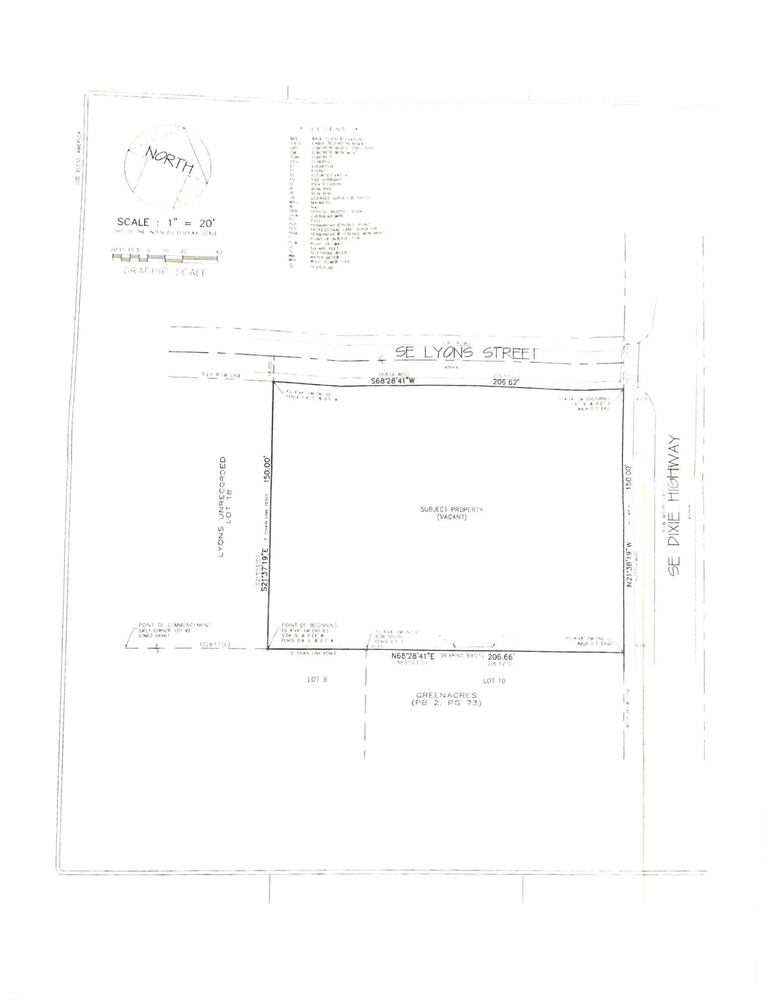 Vacant lot survey photo for MLS photos