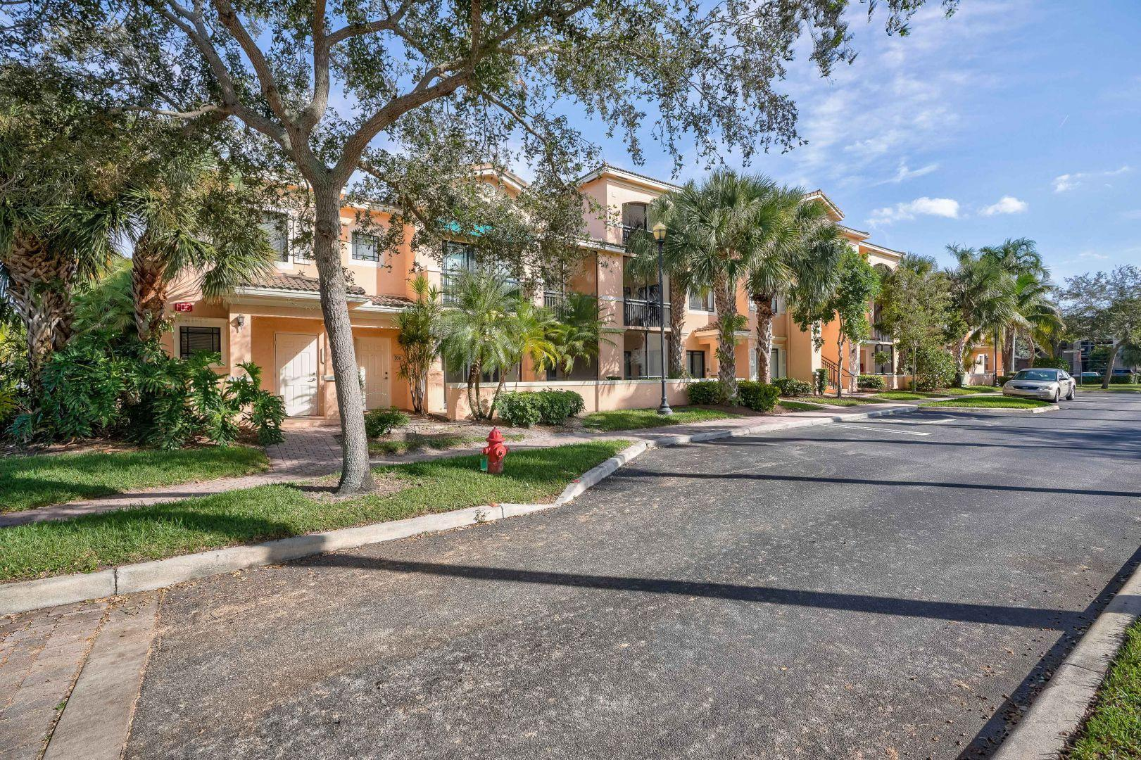 Nestled in a lush, resort-style community in Palm Beach Gardens, this beautiful and well-maintained 2 bedroom, 2 bath apartment is available for occupancy on 7/1/21. Whether it's the kitchen's updated marble countertop, bedroom's large walk-in closets, large washer and dryer utility room, or the privacy-maximizing split floor plan, you're sure to fall in love with this first floor unit nestled in the prized San Matera community. Minimum lease term is one year.  First/Last month, including a $1,850 Security Deposit is required upon move-in. Plus, a $500 refundable deposit to HOA. 650 credit score, and a background check is performed.Broker-owner landlord.