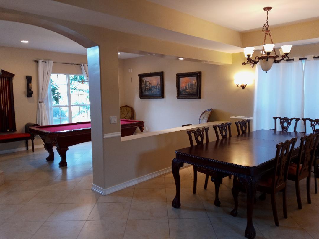 formal pool room