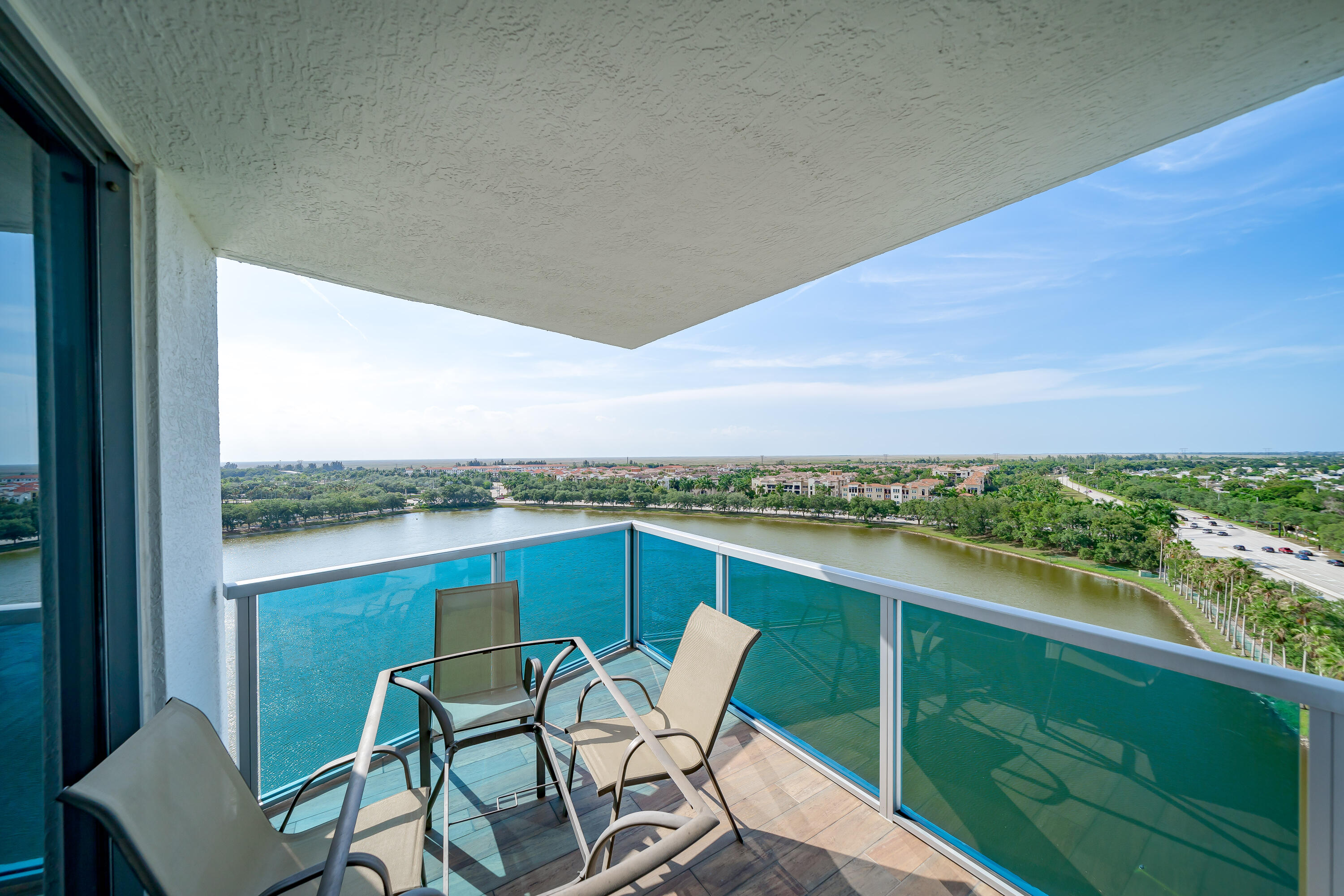 Open balcony off the living room