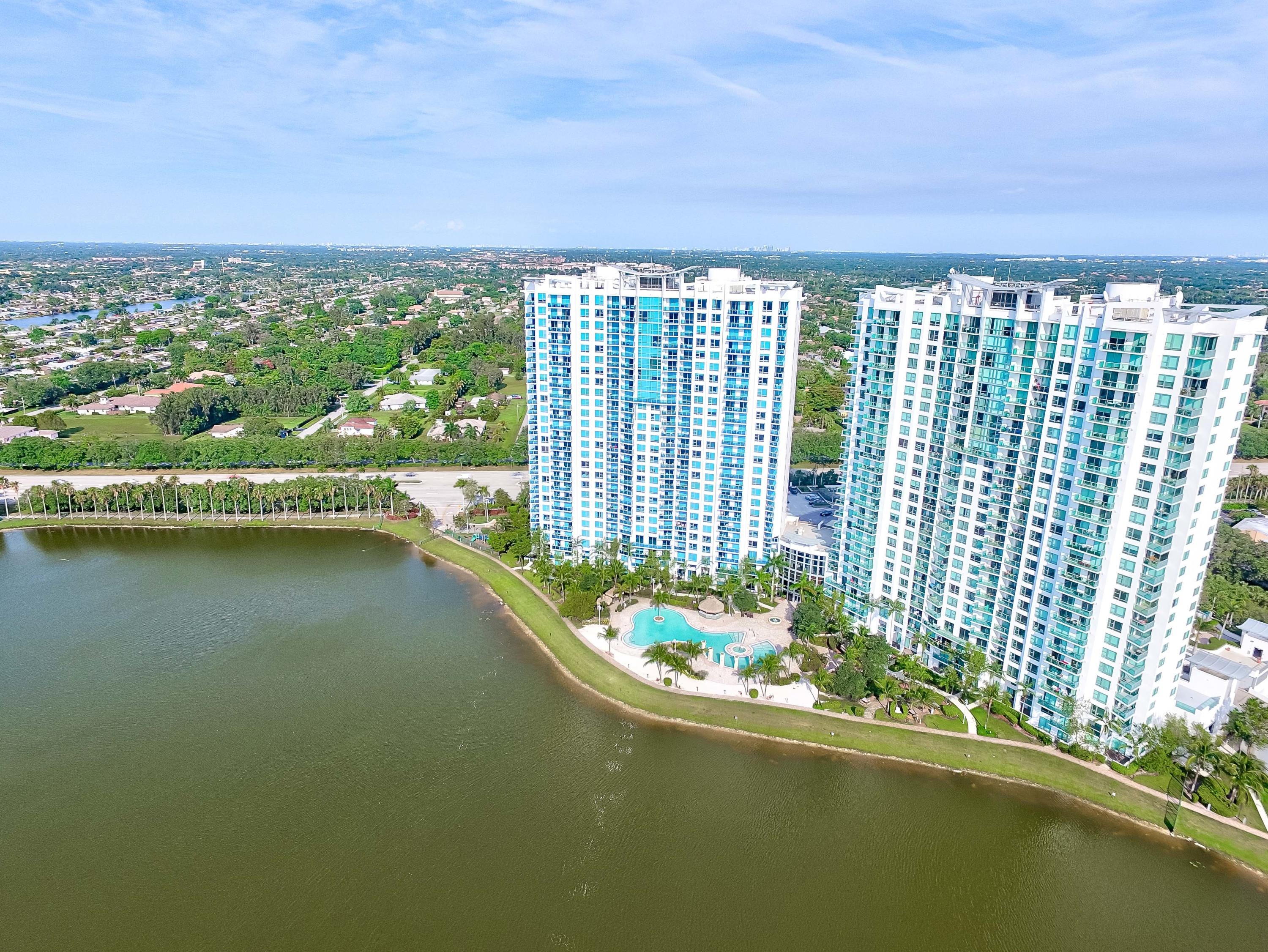 Aerial picture - pool on the lake