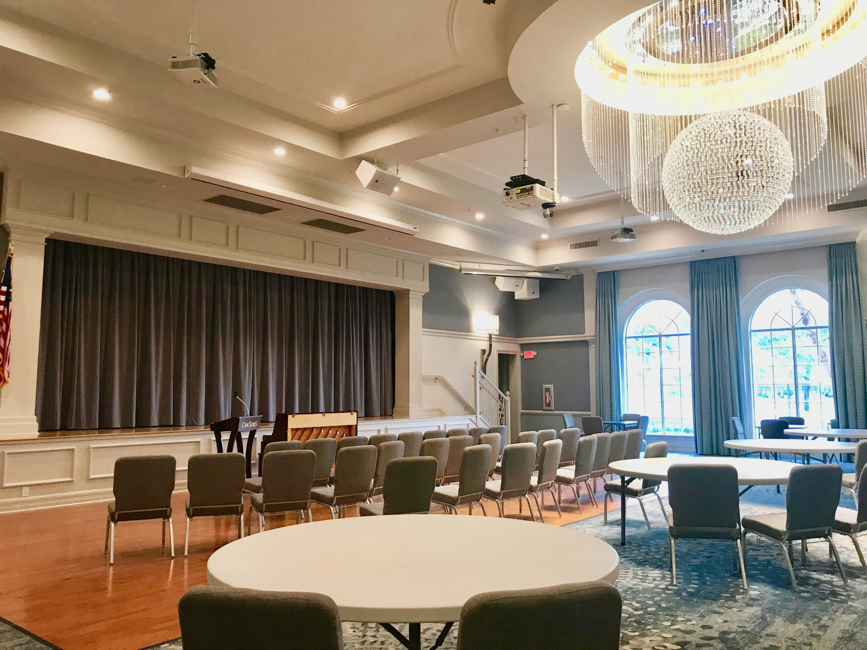 Stage and multipurpose room
