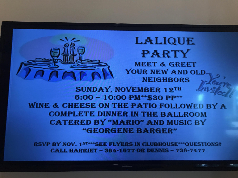 lalique community party