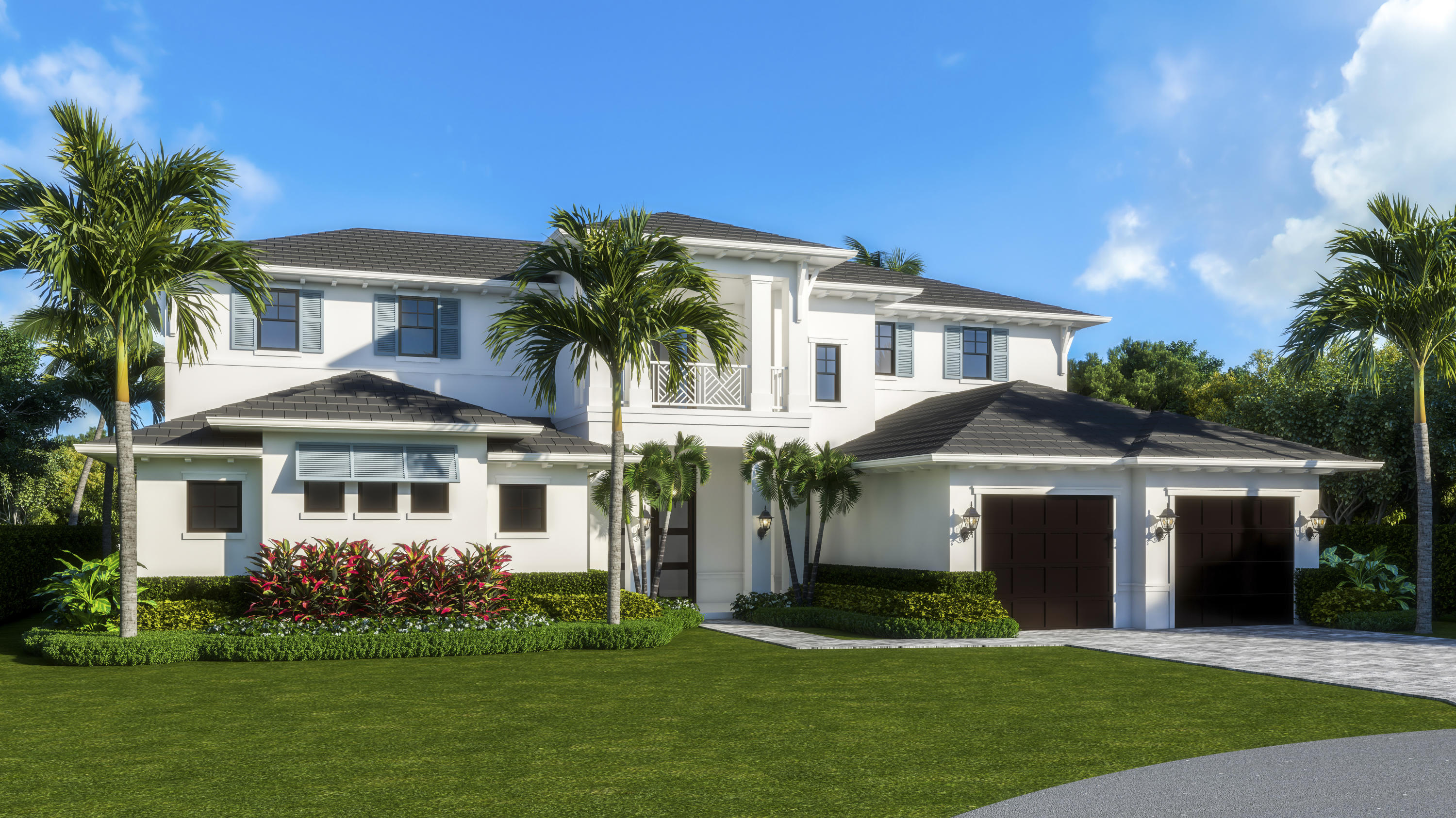 Waterfront New Construction Scheduled Completion Date October 2022. 5BR, one of which could serve as an Office, 5.1 BA, 2CG CBS home built with the finest and most Luxurious finishes (Floor Plans Attached).85' of water frontage on a deep wide water canal. 85' Trex dock with 15klb lift. Ocean access with no fixed bridges-only minutes to three waterfront restaurants. Abundant living space including great room, family room, formal dining room and dual master suites. 15' X 45'' heated pool/spa. A dream gourmet kitchen offers a Wolf 6 burner sealed Gas stainless steel cooktop, Wolf stainless steel 30'' built in double convection ovens, SubZero 48'' fridge/freezer and dual Bosch dishwashers and a spacious pantry. The kitchen features hand-made custom cabinets with a large island...see supplement This home offers a grand entrance with double mahogany/glass style doors & marble floors and beautiful staircase opening to the great room. Several rooms feature beautiful ceiling details. The living areas on both floors are finished with high quality engineered wood floors. The home is being built with the best quality materials and workmanship including high impact hurricane windows and doors. There are large sliding doors in all the rooms facing the water letting in lots of natural light and giving a beautiful view of the pool, the water and your boat. The house is perfect for entertaining with a wonderful flow from the indoors to the outdoors.  The downstairs master suite includes oversized his & her closets, a spacious bathroom with a built-in dressing table, dual shower, soaking tub, and separate toilet rooms all finished in the highest quality marble and quartz. The upstairs boasts a spacious master suite with a large deck overlooking the pool and the water. Three additional upstairs bedrooms are all ensuites with luxury finishes and large walk-in closets also open out to the large deck. There is a day kitchen with sink and refrigerator in the gallery. Additional features include a large veranda with summer kitchen. This home is architect designed and has a West Indies flare with many contemporary features and includes new lush tropical landscaping.  The photos illustrated are virtually staged renderings along with photos of a prior project completed at 2389 Azure Cir Palm Beach Gardens Fl 33410.