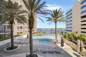 Balcony view over looking sunrise pool and Intracoastal