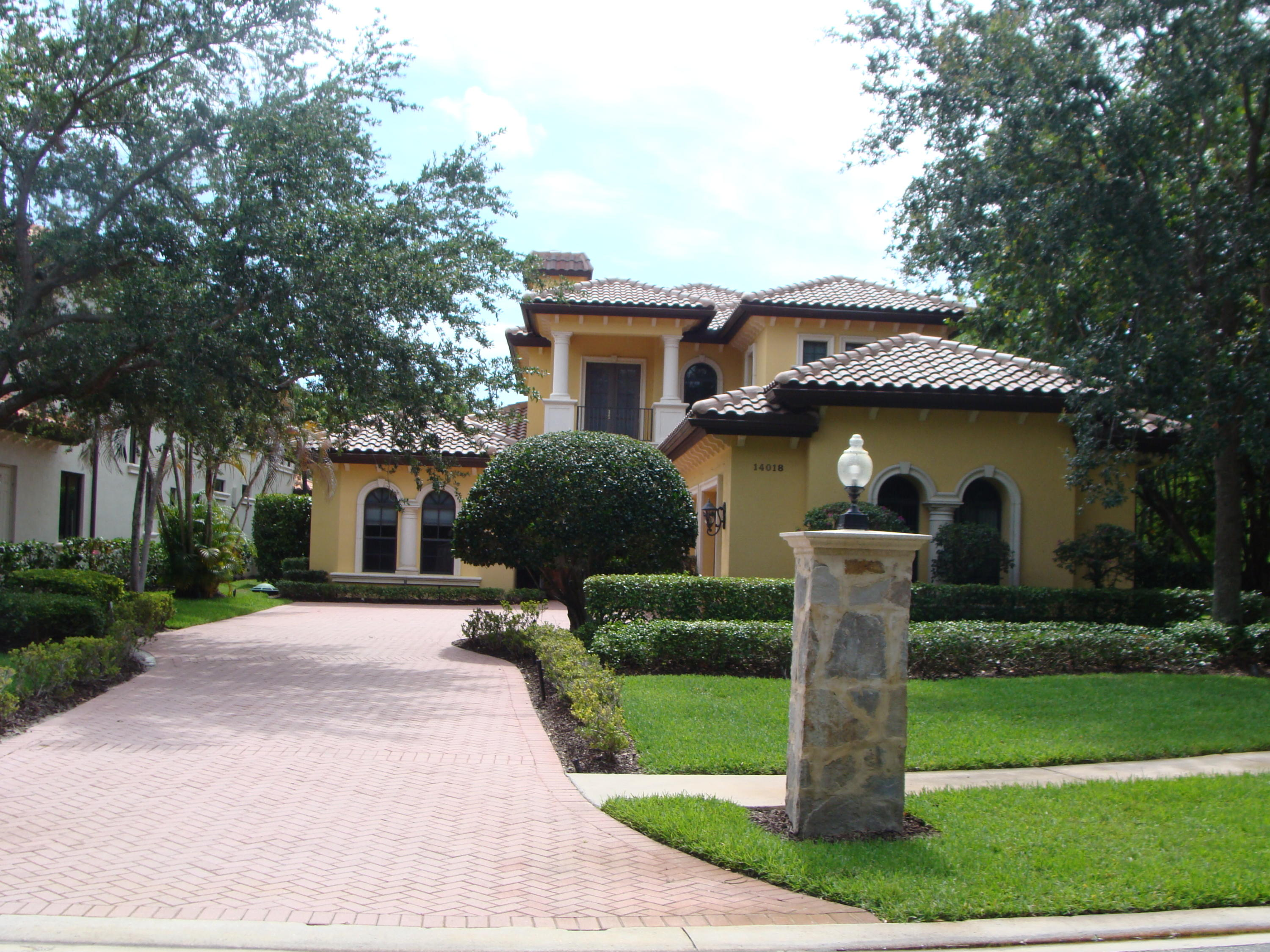 BRING OFFERS > MOTIVATED SELLERS! Custom waterfront luxury estate home in ''The Cove'' a private gated community with canal off the main intracoastal. Soaring ceilings and marble floors welcome you as you enter the grand foyer. Kitchen features European custom designed cabinets, wolf stove, Miele cook tops, double oven, Miele coffee maker, sub zero fridge and large island with granite counters. The interior features high end marble flooring, coffered ceilings, media room, workout room. The master is downstairs with wet bar, large walk in closets and en-suite master bath. Exterior features include brand new roof installed 2021, hurricane impact window & doors, summer kitchen, pool w/ sun ledge, spa, volleyball and basketball court and one of the largest lots in the community.