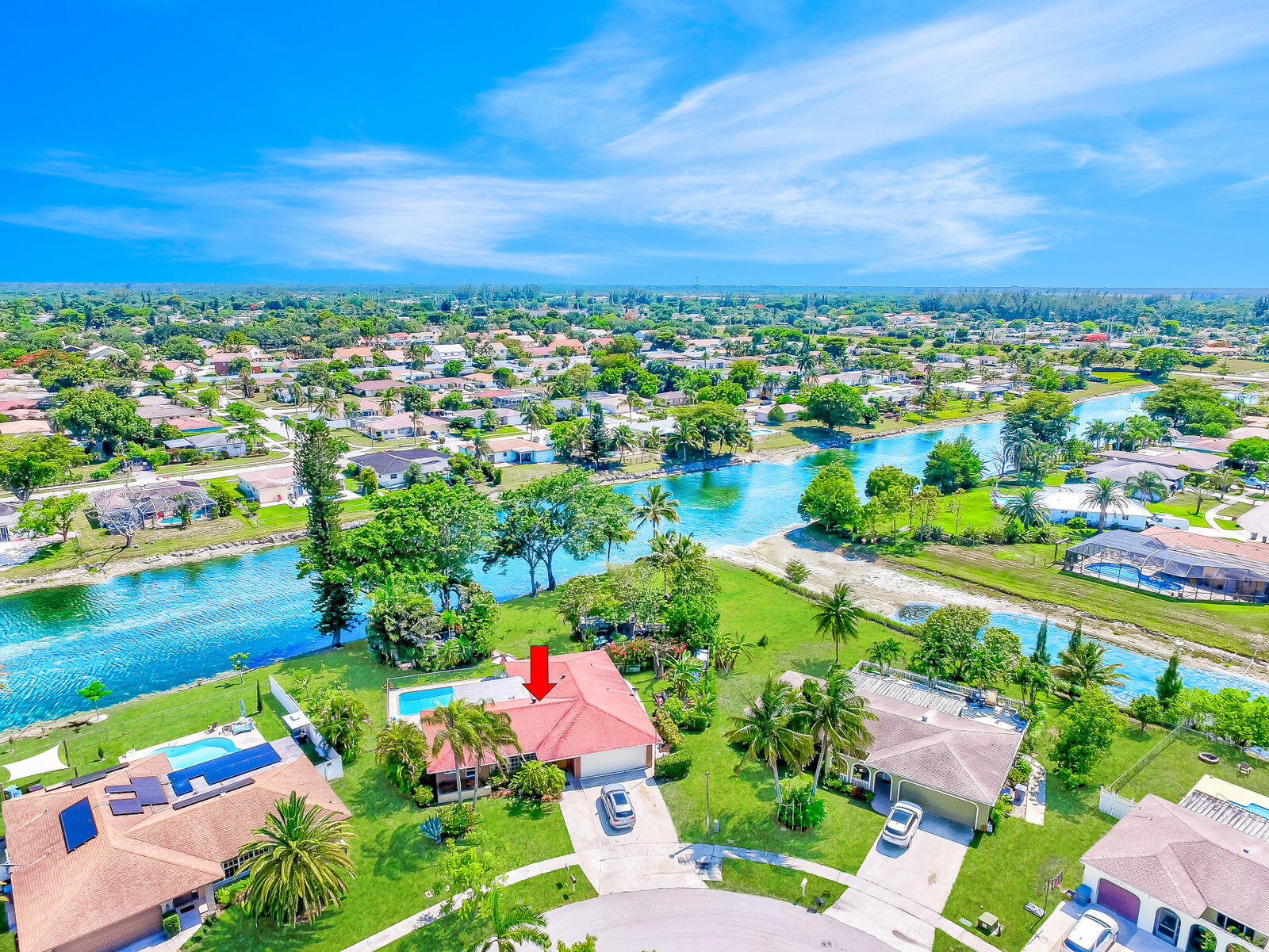 Home for sale in Palmetto Pines,holiday City Boca Raton Florida