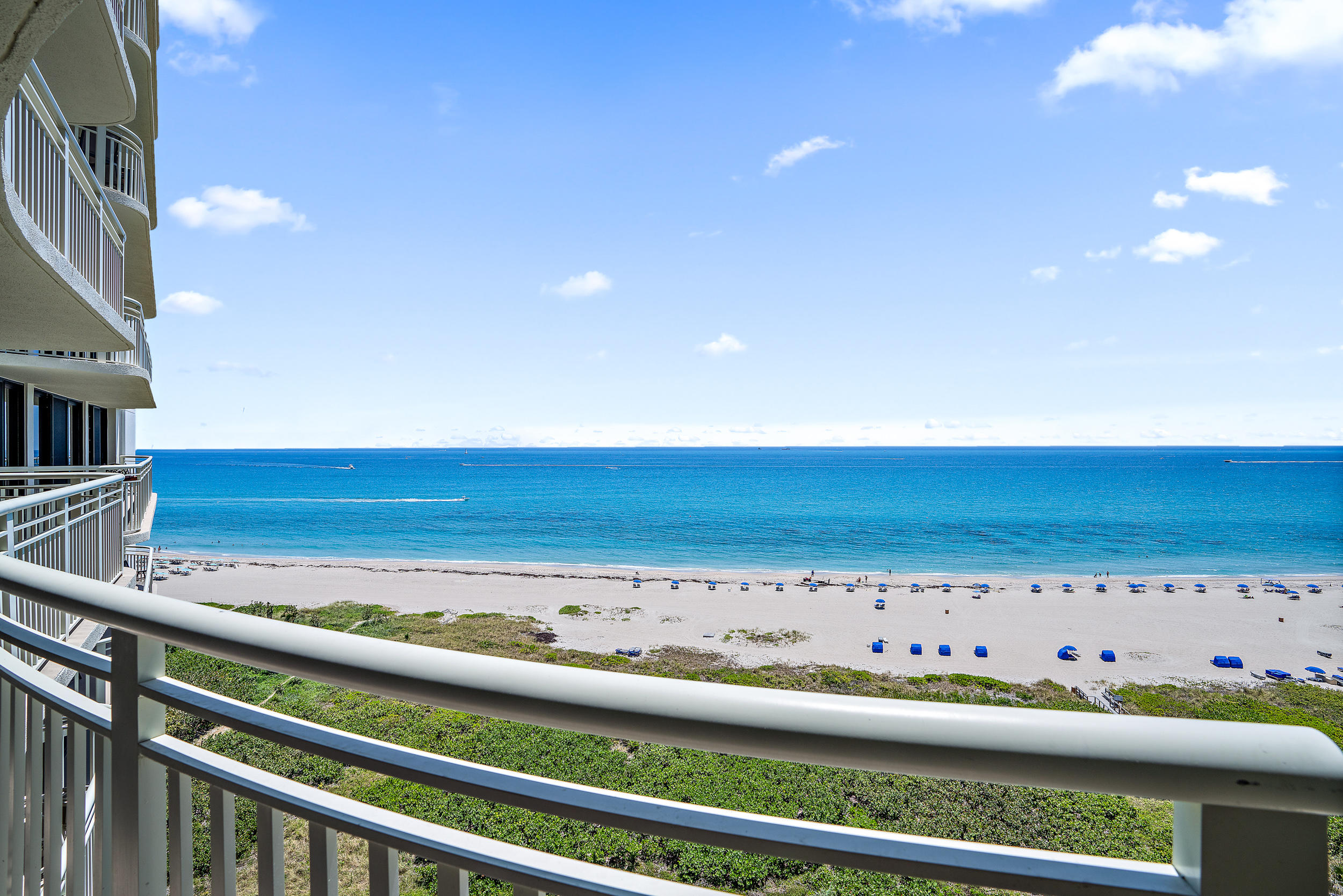Tiara, sitting on the wide sandy beach at the south end of Singer Island is one of the tallest oceanfront condominiums in US. This 43 story tower offers a total of 328 residences. In the heart of Tiara is a very special condo that won't last long. With more than 1,500 square feet, this 2 bedroom, 2 bath residence with unobstructed ocean views, is a must see. Wake up to the amazing sight of the sparkling water from the master bedroom. Every room leads out to the spacious wrap around balcony.  Other features include updated bathrooms, impact glass, and a Bosch washer and dryer. The open kitchen has granite counters and backsplash as well as stainless steel Whirlpool appliances. Tiara's amenities include the famous Marquis Rooftop Owners Lounge, the Gazebo Restaurant, beach service and more. Other amenities include 400 feet of beautiful white sand beach, a heated pool and Jacuzzi, three tennis courts, a billiards room & two card rooms, a cozy library, a his/her spa, the, valet parking, concierge & covered parking.