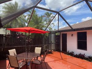 Completely private patio with privacy screen