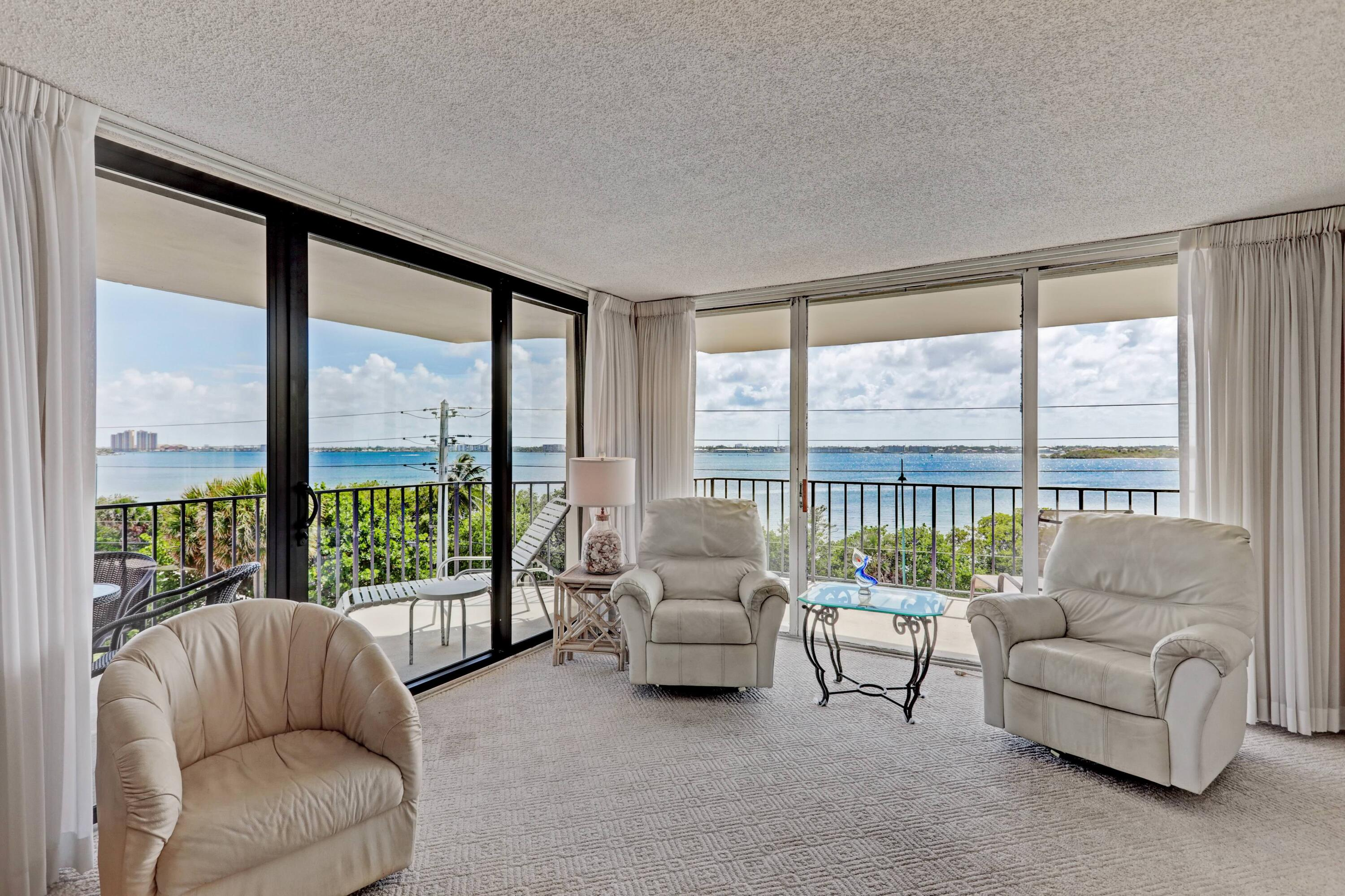 LOW FLOOR BEAUTY OVER LOOKING THE INTERCOSTAL WATERWAYS WITH THE MOST STUNNING SUNSETS  YOU HAVE EVER SEEN. SEE THE BLUE ATLANTIC OCEAN FROM YOUR WRAP AROUND BALCONY. ONLY 4 UNITS PER FLOOR,2 BEDROOM ,2 BATH UNIT. 2 WALK IN CLOSETS, WAITING FOR YOUR PERSONAL TOUCH TO MAKE THIS A ONE OF A KIND. 800 FEET OF SANDY BEACH AT YOUR FOOTSTEPS,POOL,CLUBHOUSE ,BBQ AREA, FITNESS CENTER