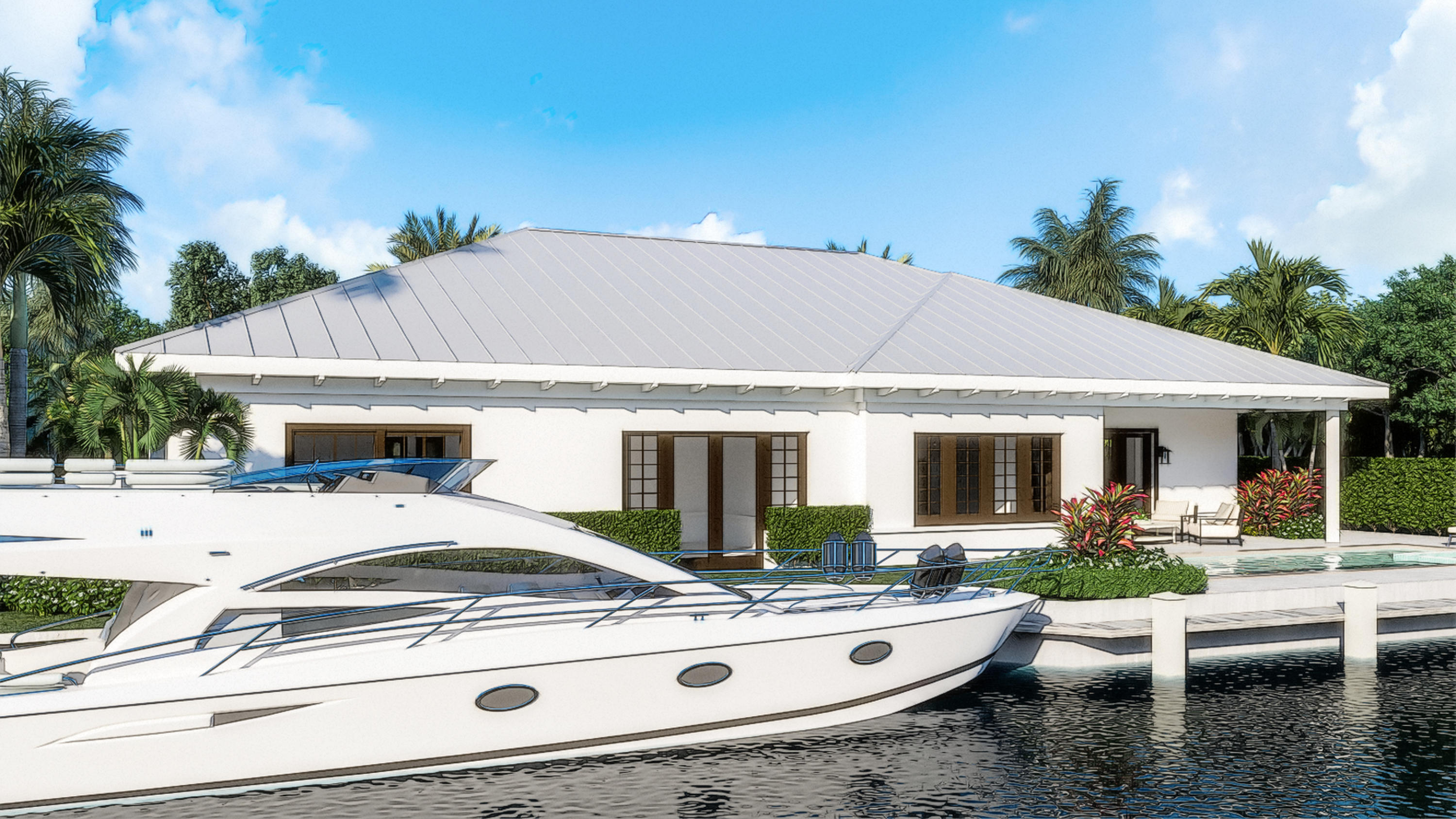 EXPECTED PRICE INCREASE OCTOBER 2021!! DON'T WAIT!! Unbelievable Waterfront Property With No Fixed Bridges, in the Heart of Palm Beach Gardens. Bring Your Boat! This Property is a Stones Throw From the Intracoastal Waterway! Located in Unincorporated Palm Beach County, lower taxes, NO HOA, No Restrictions! Amazing - Waterfront - New Construction - Scheduled Completion Date Feb 2022! Stunning 4BR, 4.1 BA, 2 car garage, CBS home built with the most luxurious finishes. Over 100' of water frontage on a deep water canal, just four lots from the intracoastal waterway! Incredible improvements have been made to the site in order to get it ready for a fantastic new construction masterpiece. NEW SEAWALL COMPLETE! Bring your boat- easy in and out access to the intracoastal. Builder eliminating existing septic system with bringing in new county sewer system. Abundant living space including great room, family room, formal dining room and extended covered outdoor living space perfect for entertaining! Complete with a heated pool/spa to cool off after a day on your boat. The home is being built with the best quality materials and workmanship. High impact hurricane windows and doors throughout the home allow for abundant natural daylight and picturesque views of the beautiful pool/spa, the water and your boat. The house is perfect for entertaining with a wonderful flow from the indoors to the outdoors.  The master suite includes oversized his & her closets, a spacious bathroom with a dual shower, soaking tub, and separate toilet room all finished in the highest quality marble and quartz. Enjoy relaxing in your heated spa with private access to the pool deck through your master suite. This Key West Inspired Semi-Custom Pool Home is Located Along One of the Most Desirable Waterfront Communities in Palm Beach Gardens. A True Boaters Paradise- Don't Miss Your Chance to Live Where Others Vacation Please contact Listing Team for Floorplans and renderings