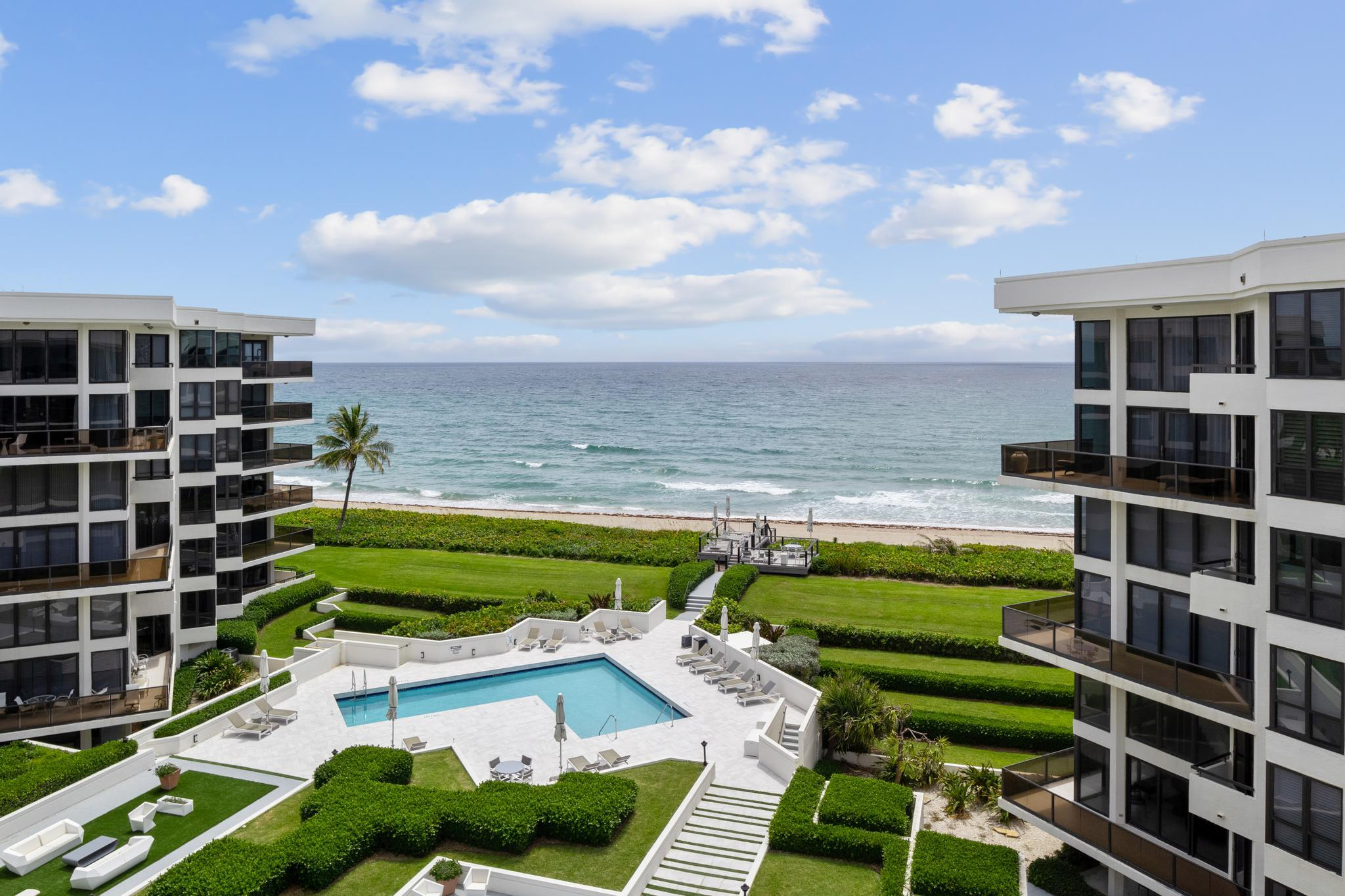 BELOW MARKET 3 BEDROOM OCEANFRONT PENTHOUSE.  3.5 Baths, IMPACT WINDOWS AND DOORS, Ocean and/or Intracoastal Views from EVERY Room, including Master Bath.  3 Balconies to view amazing sunrises and sunsets.  Desirable Boutique Building (Only 45 units) includes garage parking, 24 hour gateman, new pool area with Oceanfront sundeck., beautiful beach, tennis, boat slips available, Fitness,Close to restaurants, 5 star resorts, shops, etc.