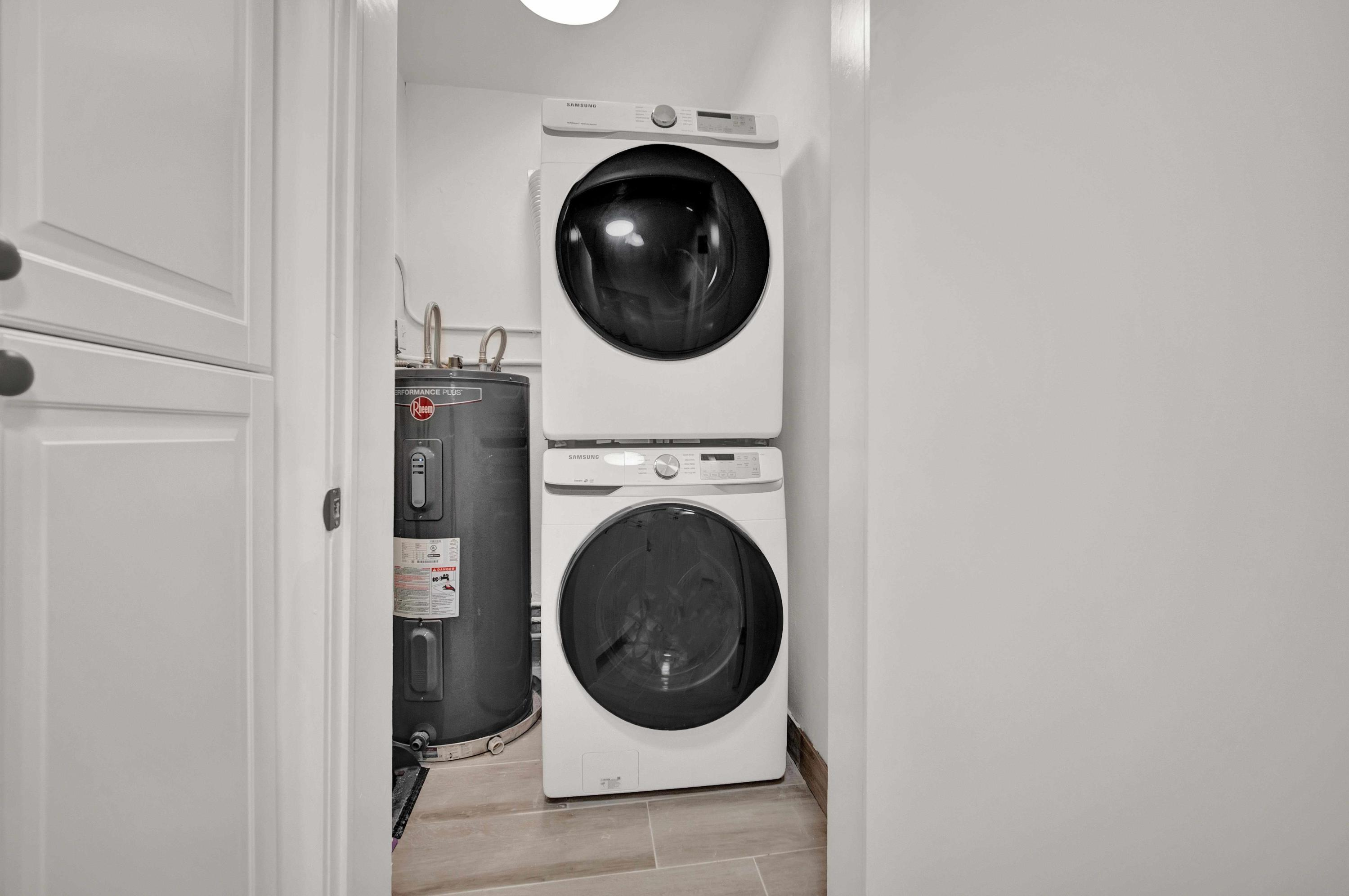 New Washer and Dryer Laundry Cabinets